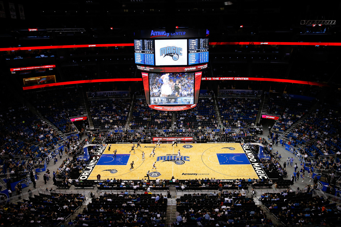 The Amway Center court