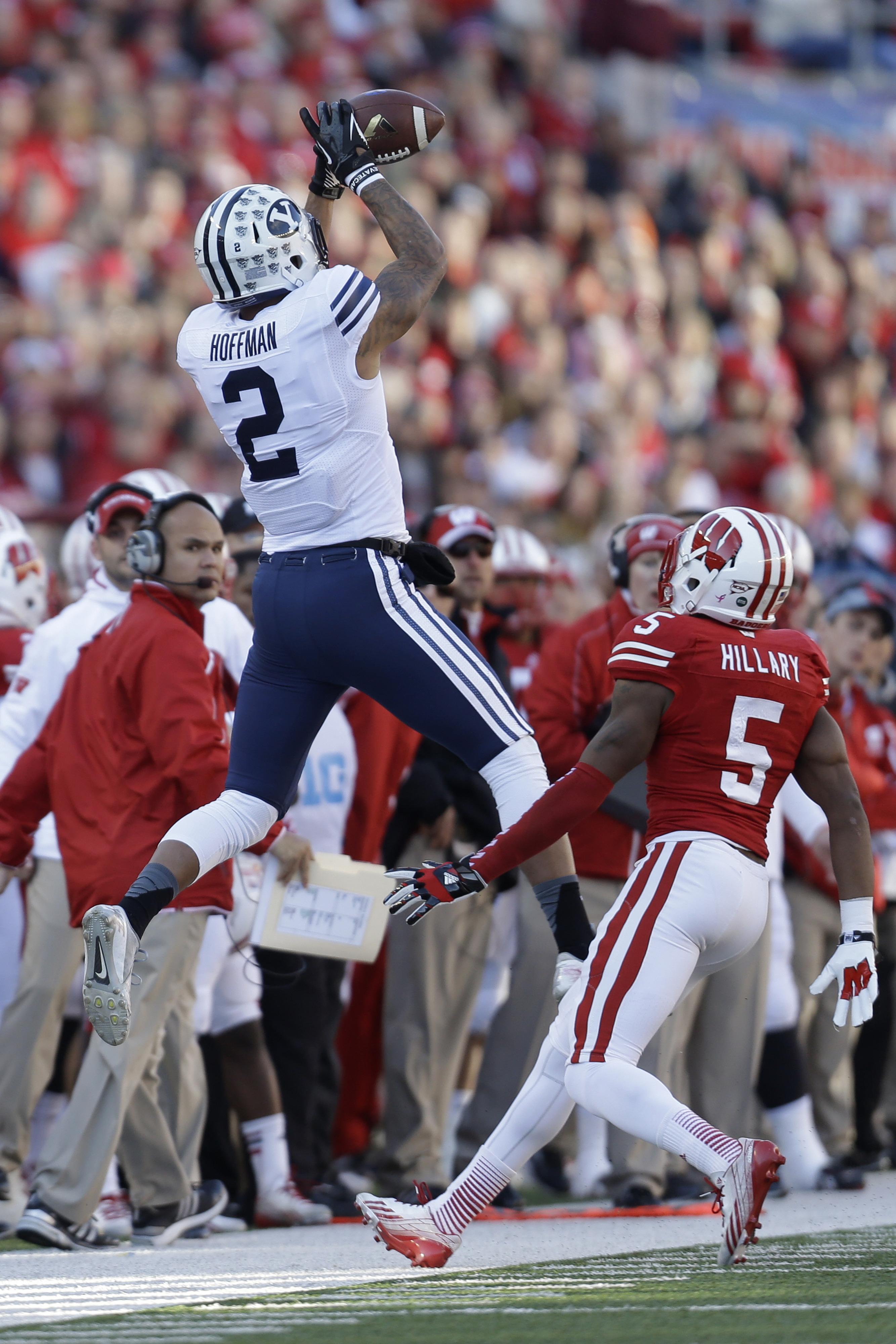Cody Hoffman elevates against Wisconsin