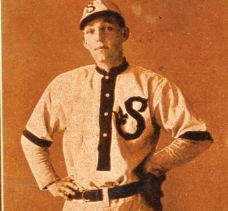 Buck Weaver with the San Francisco Seals in a 1911 Zeenut card.