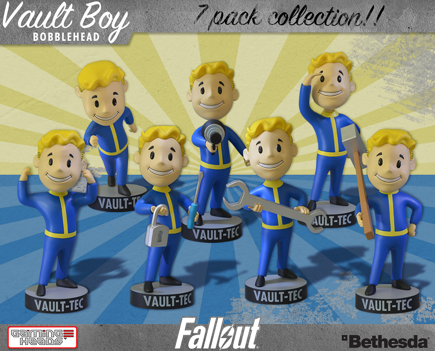 Fallout Vault Boy bobbleheads available for pre-order