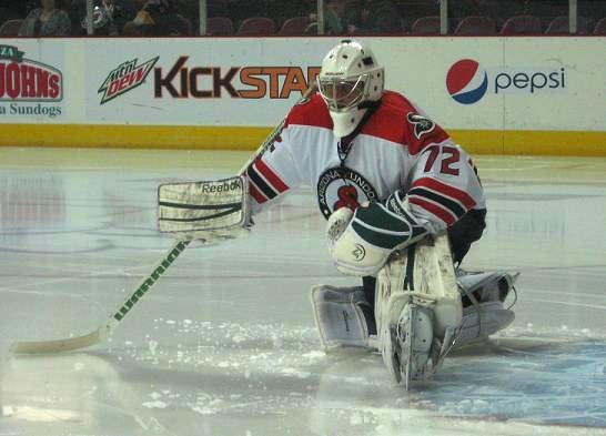 Goalie Andrew Engelage has been a wall in net for the Sundogs recently