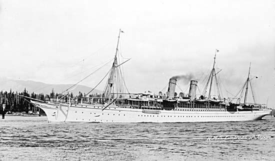 The RMS Empress of Japan.
