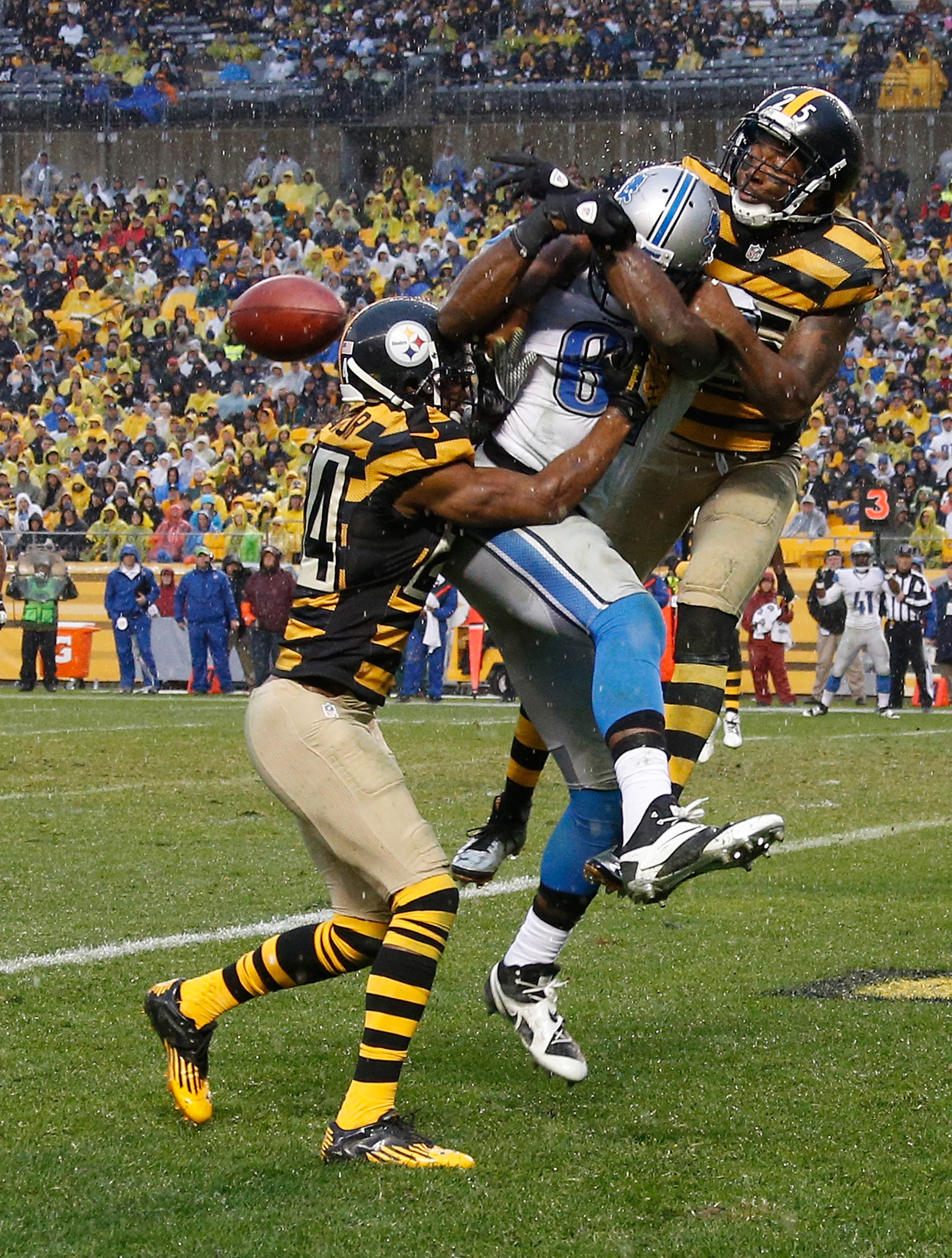 """Ryan Clark, Ike Taylor double team and dominate """"Megatron"""""""