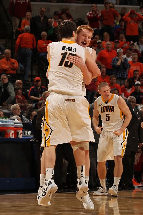 The play of Aaron White and Zach McCabe will determine Iowa's frontline success in 2012