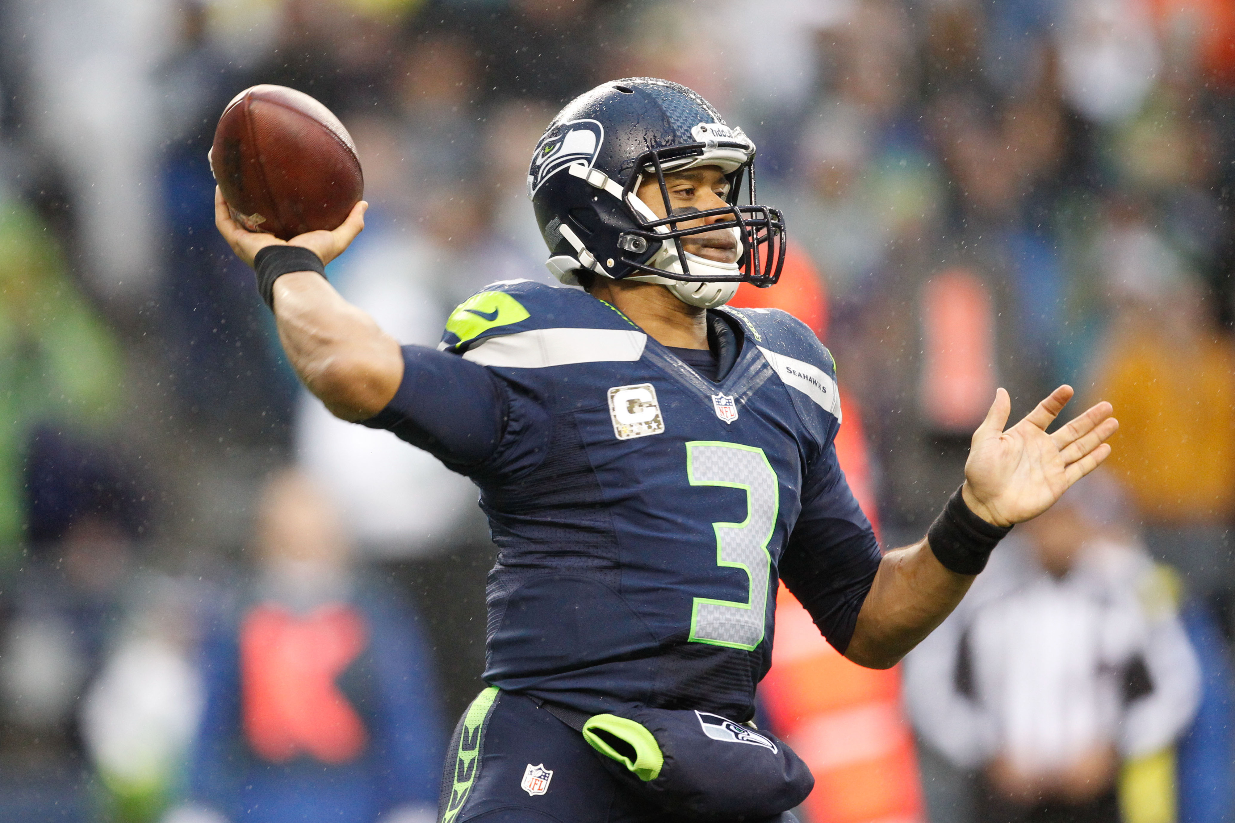 Russell Wilson and the Seahawks remain in top spot