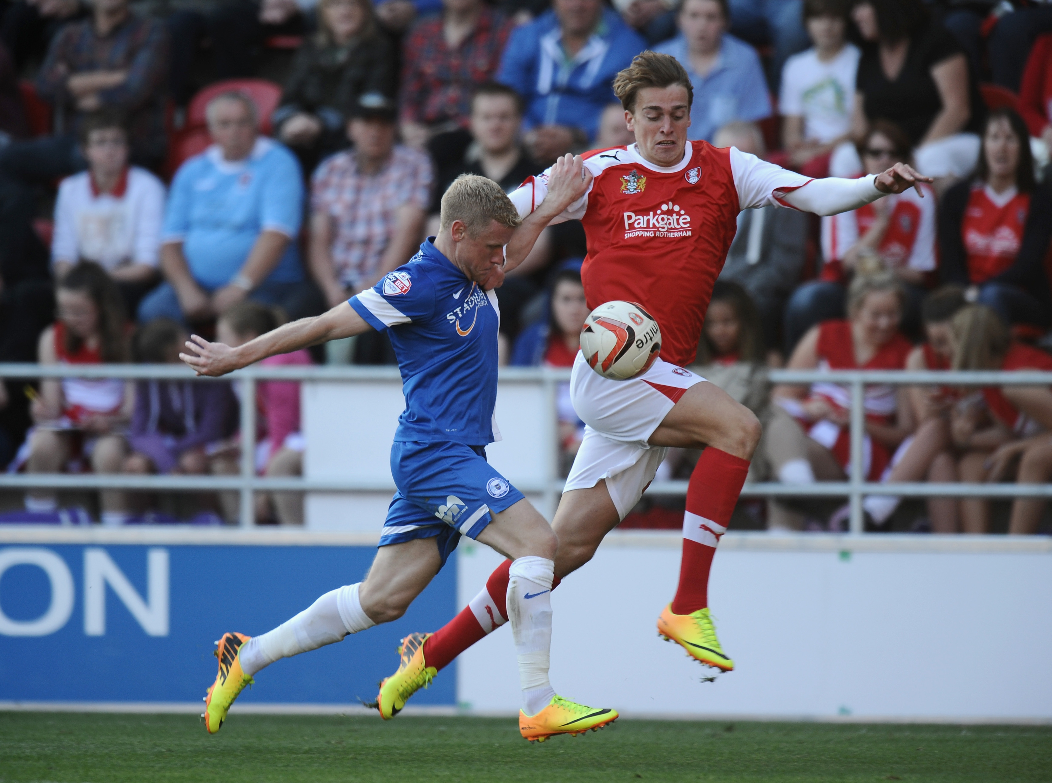 Eaves in action for 'The Millers' against Peterborough.