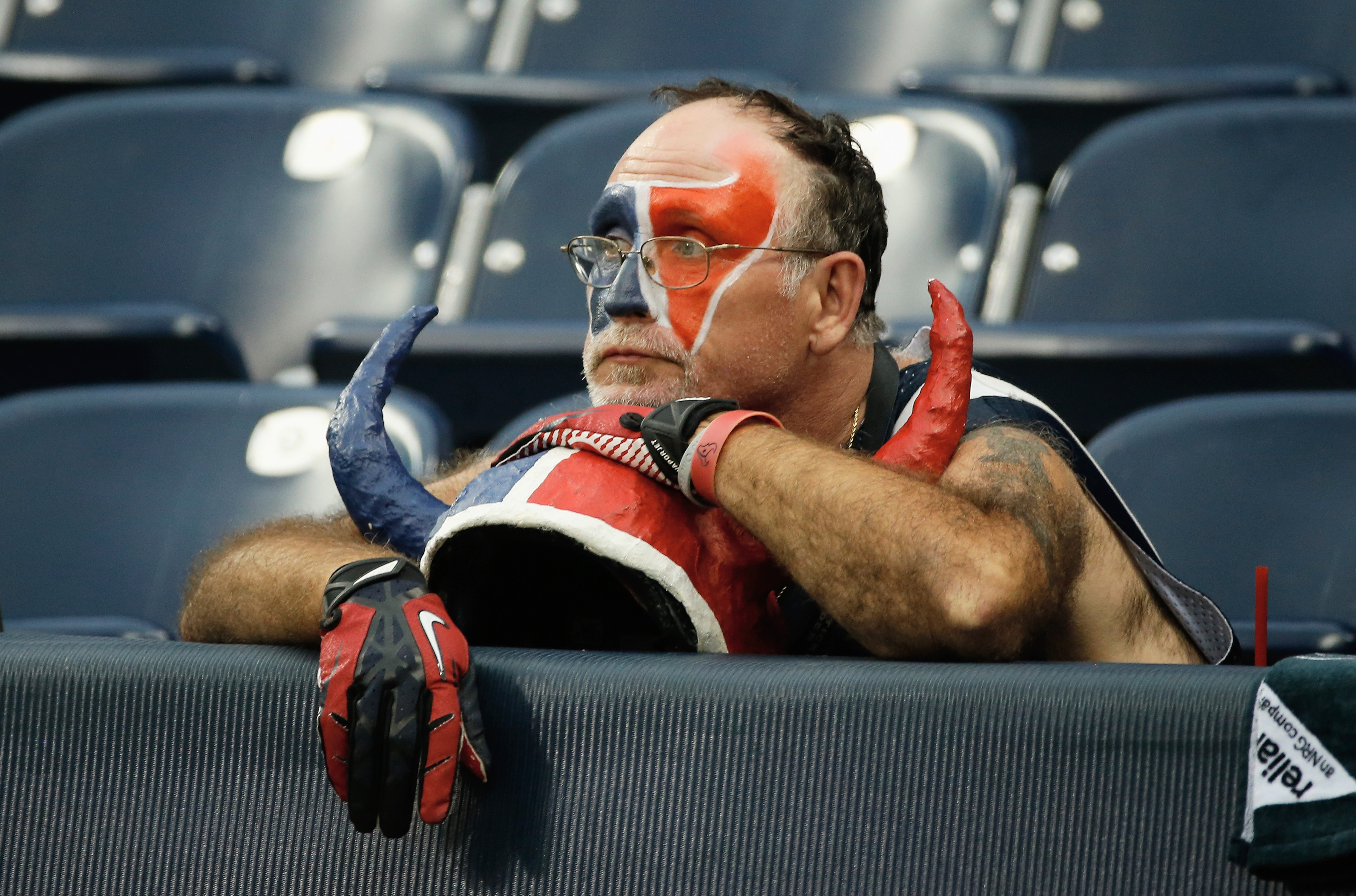 For better or worse, you know this dude will be at Reliant Stadium tomorrow.
