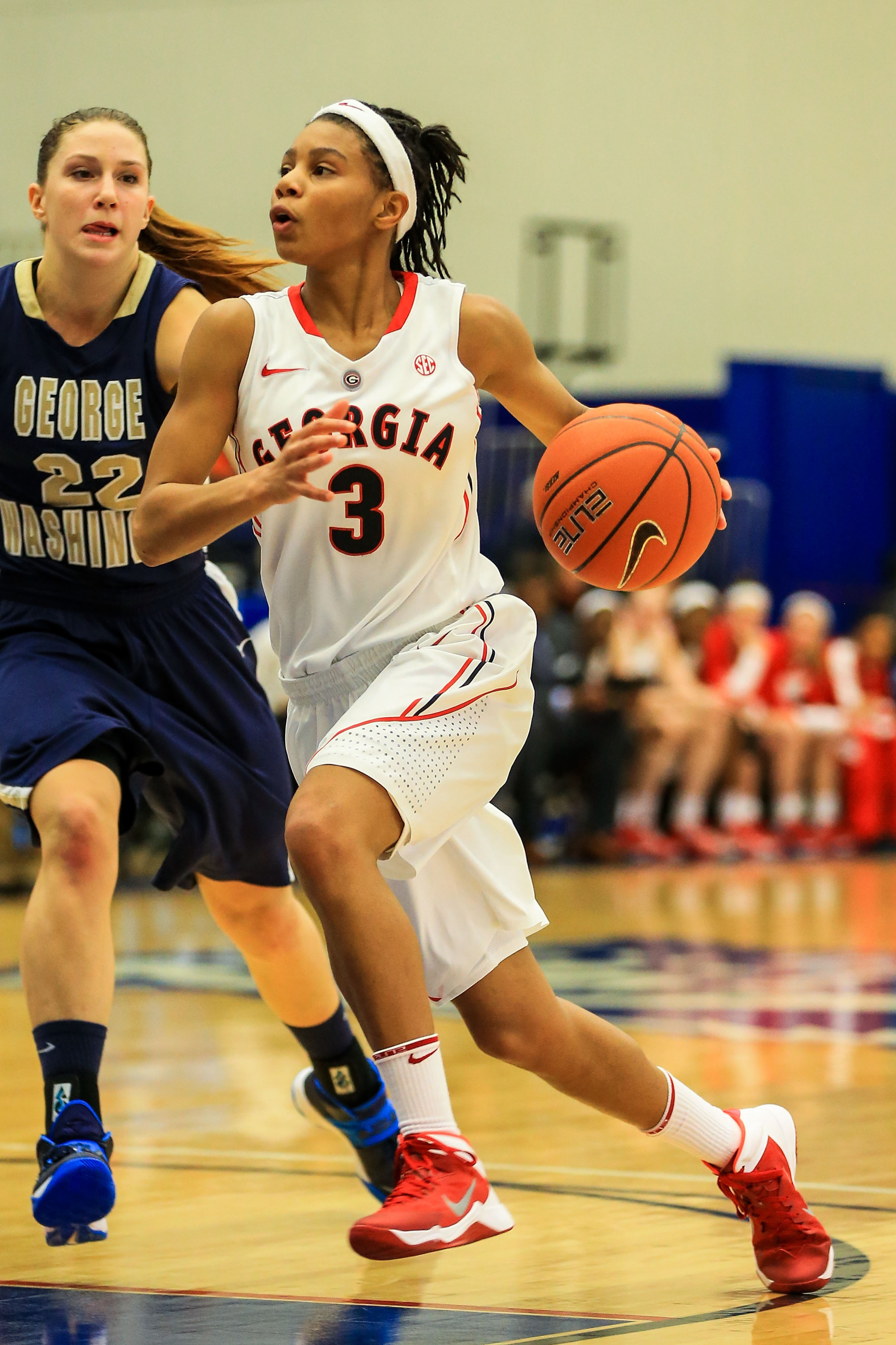 Tiaria Griffin is the Lady Dogs' leading scorer despite not being a starter.