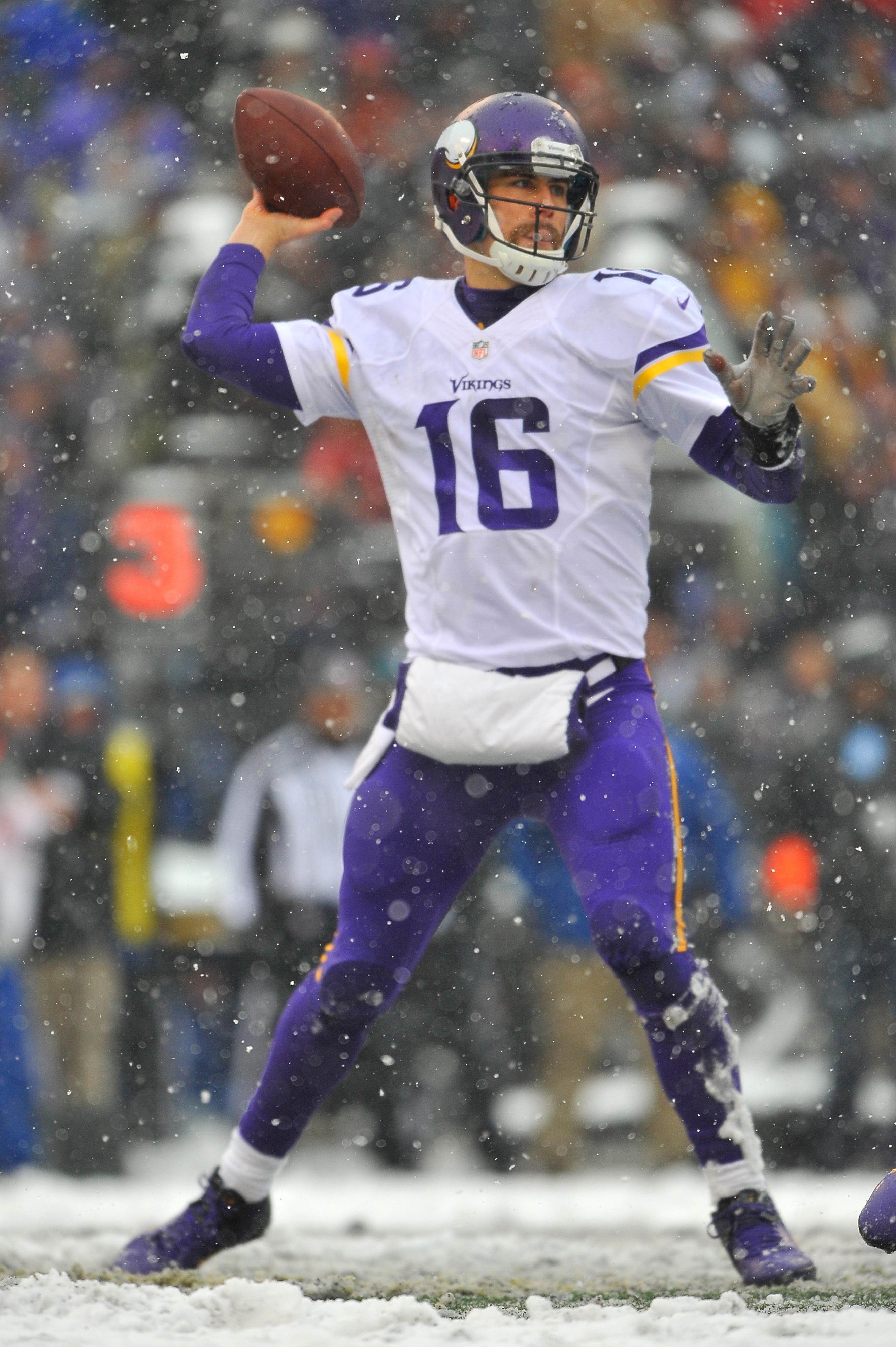 We'll be missing the snow (and the glorious 'stache that Cassel shaved off) in Sunday's game.