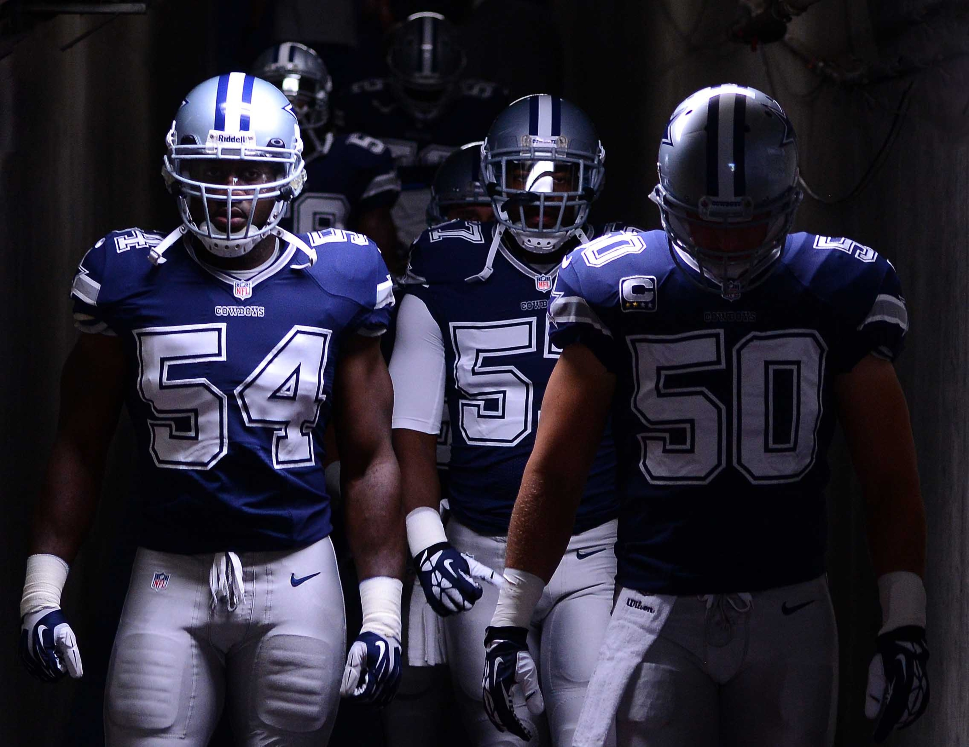 Carter (54) and Lee (50) are out for Dallas this Sunday.
