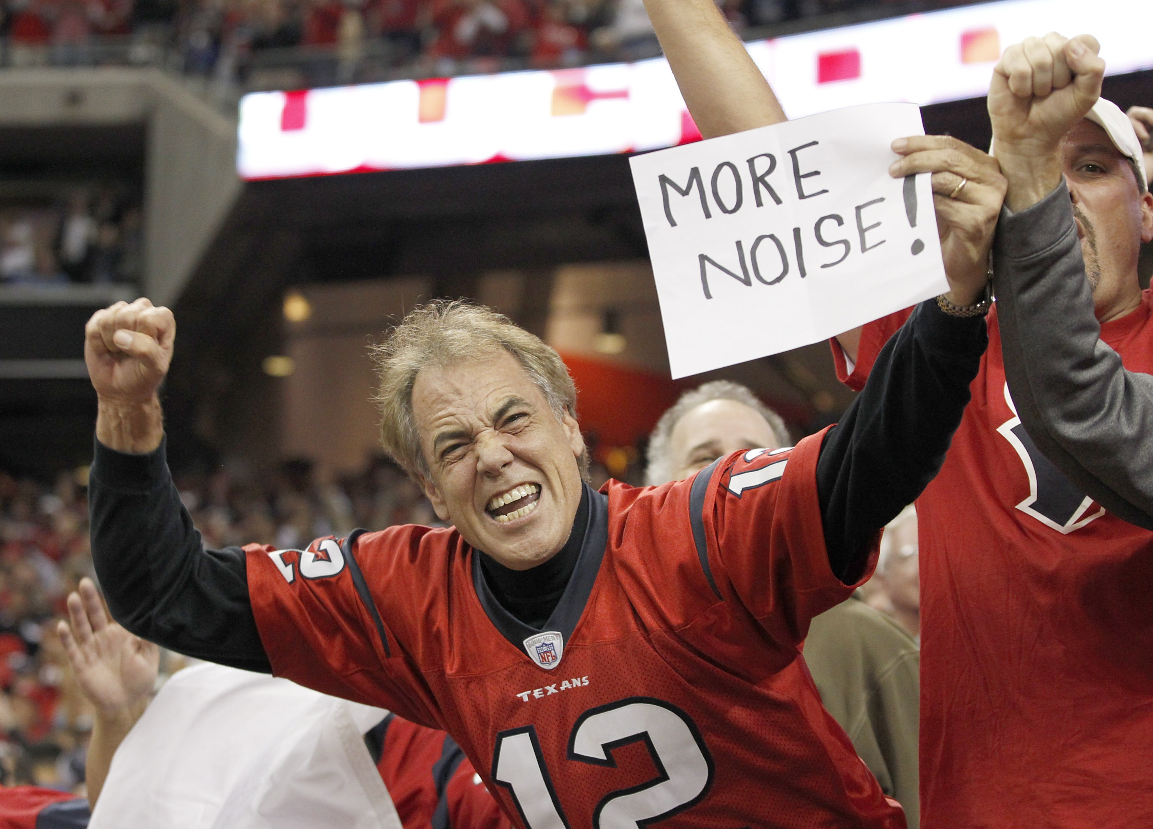 """I would have gone with a sign that said, """"I'm wearing this Jacoby Jones jersey ironically."""""""