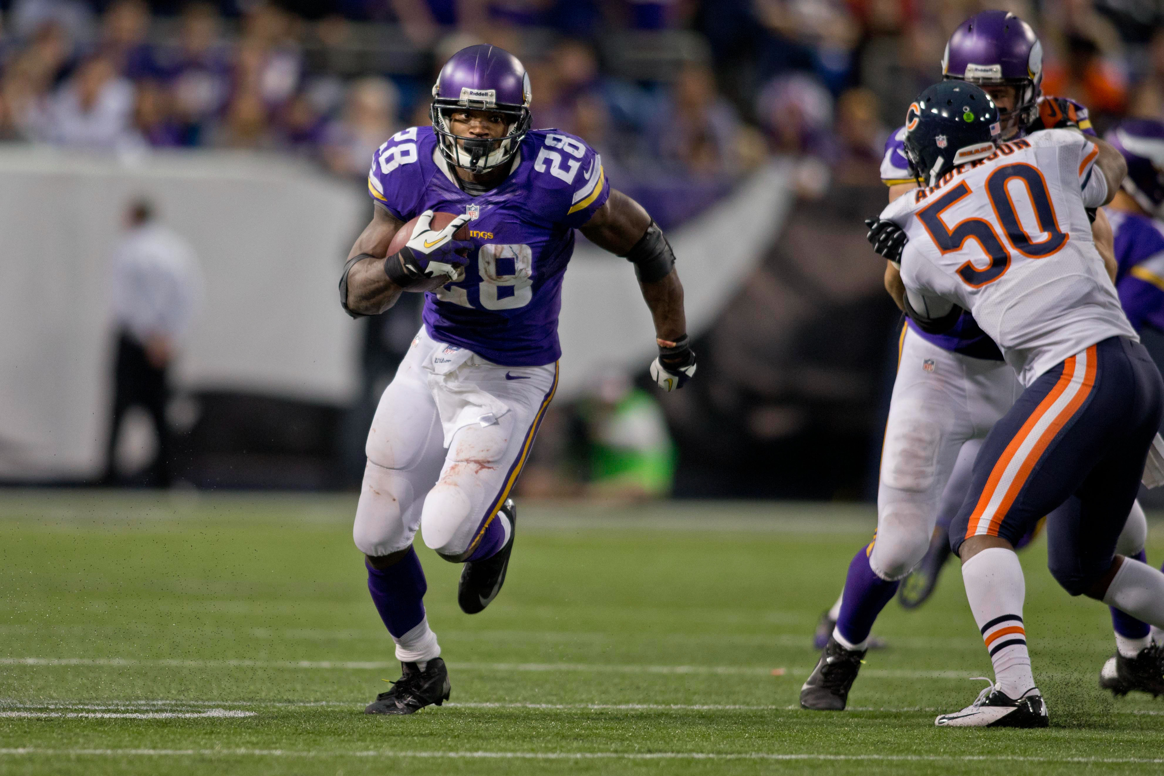 Adrian Peterson injury: Vikings RB out for Sunday