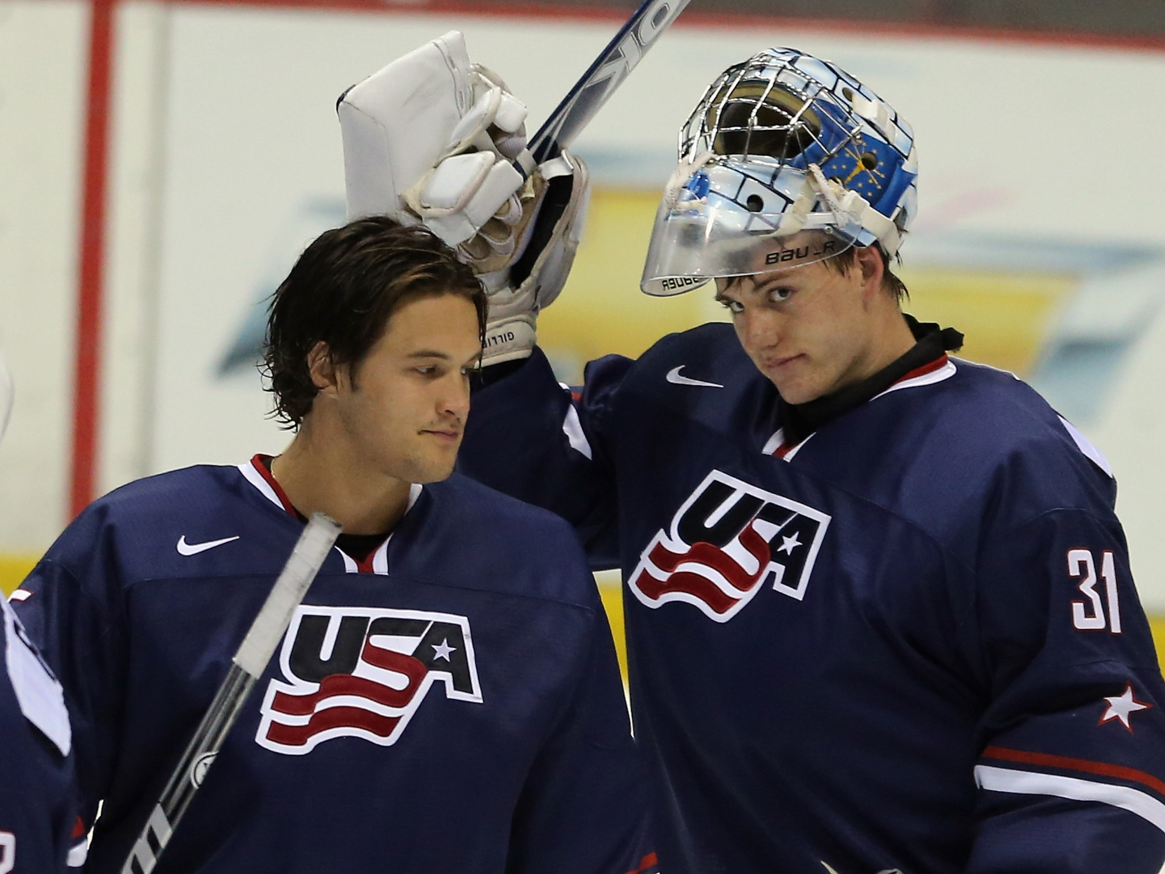 John Gibson (left) led the United States to Gold last year. It is Providence's Jon Gillies (right) turn to shine in 2014.