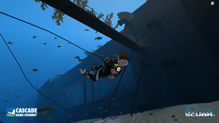 Earning your virtual diving license in this scuba sim