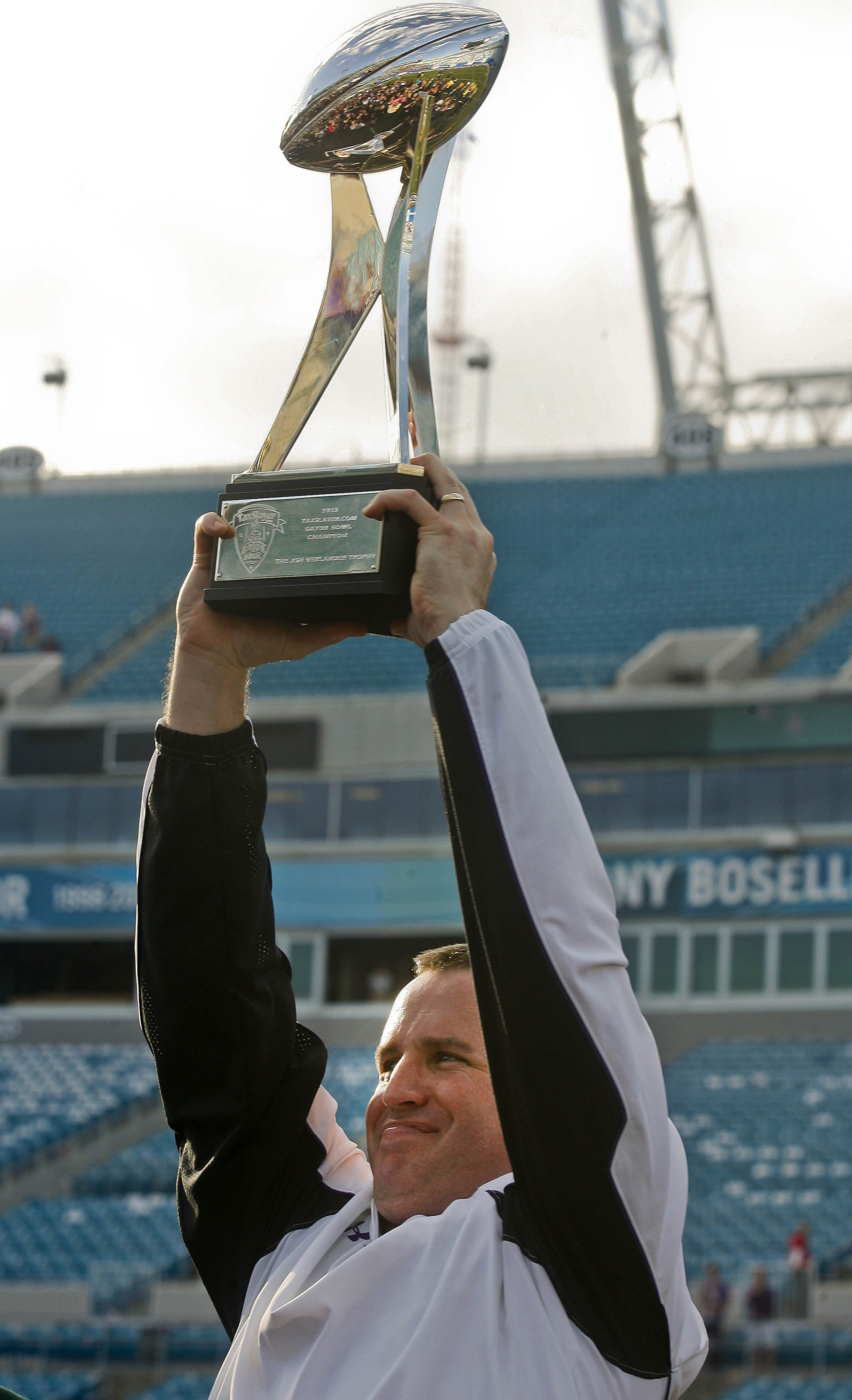 This is the Gator Bowl trophy. I'm not kidding.