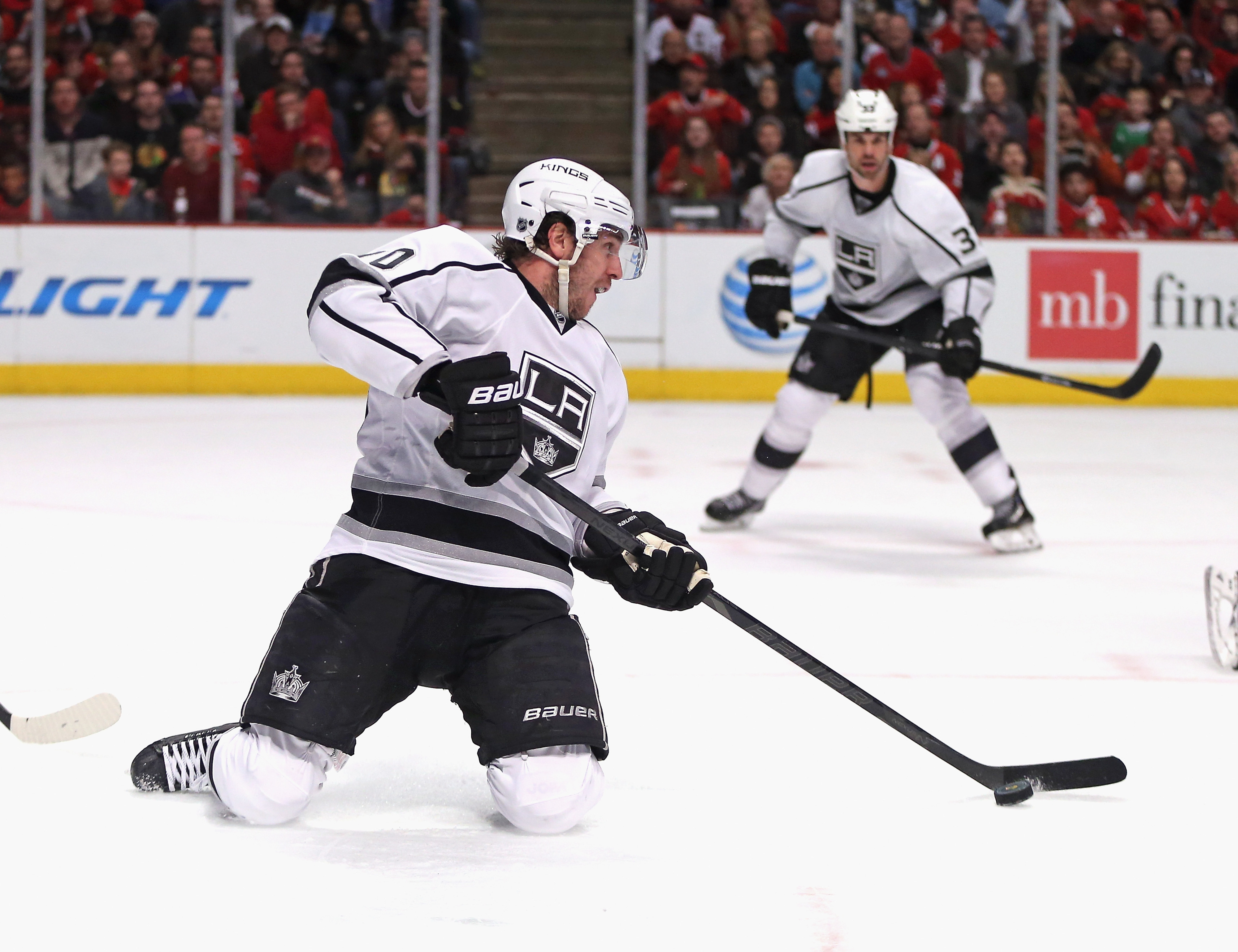 Picture of Mike Richards blowing the game