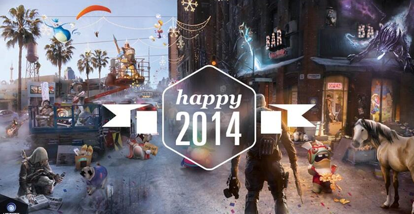 Ubisoft wishes you a happy New Year with an interactive card