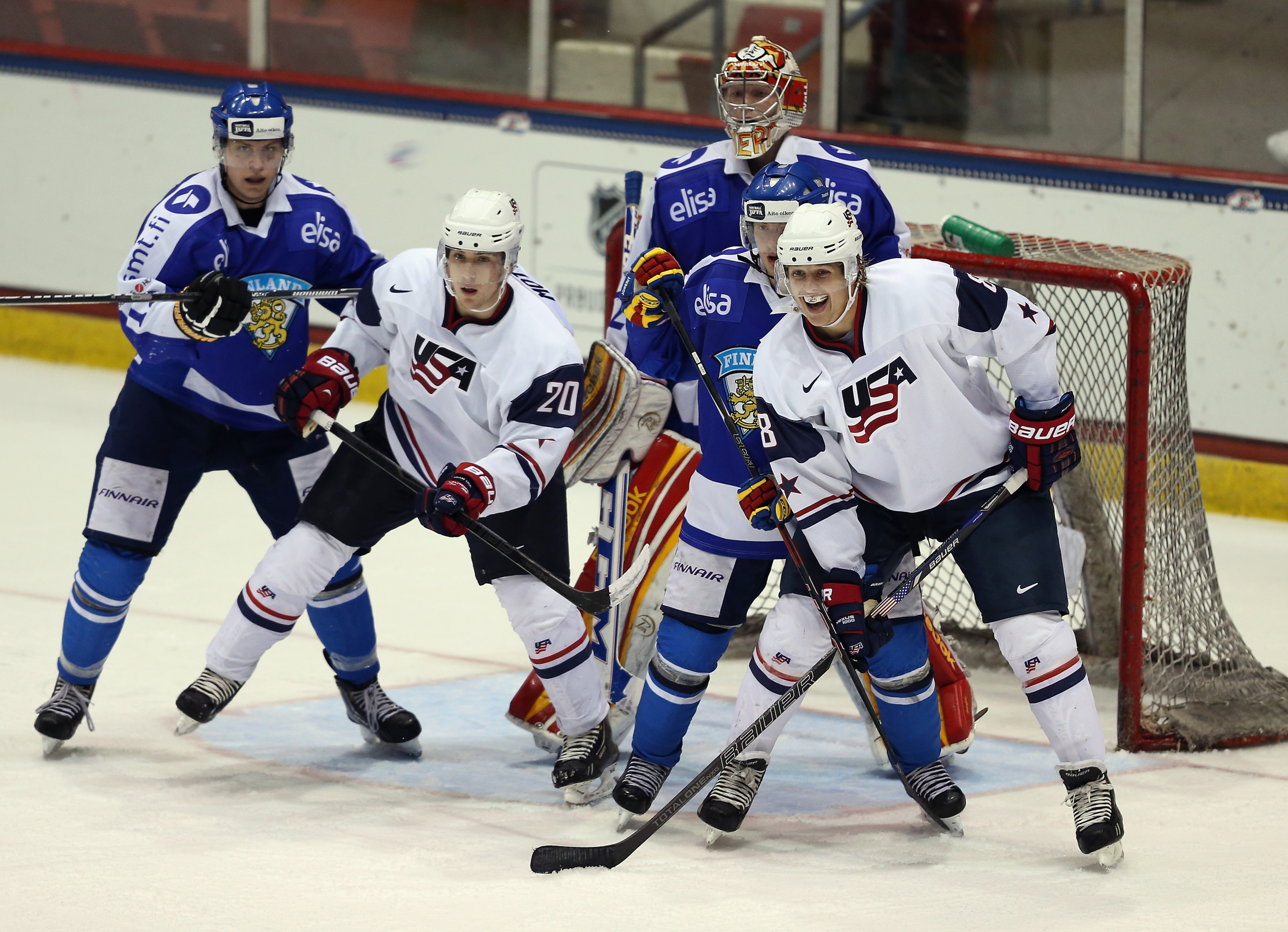 Tyler Motte(left) and Hudson Fasching(right) should be key players for next year's World Junior team.