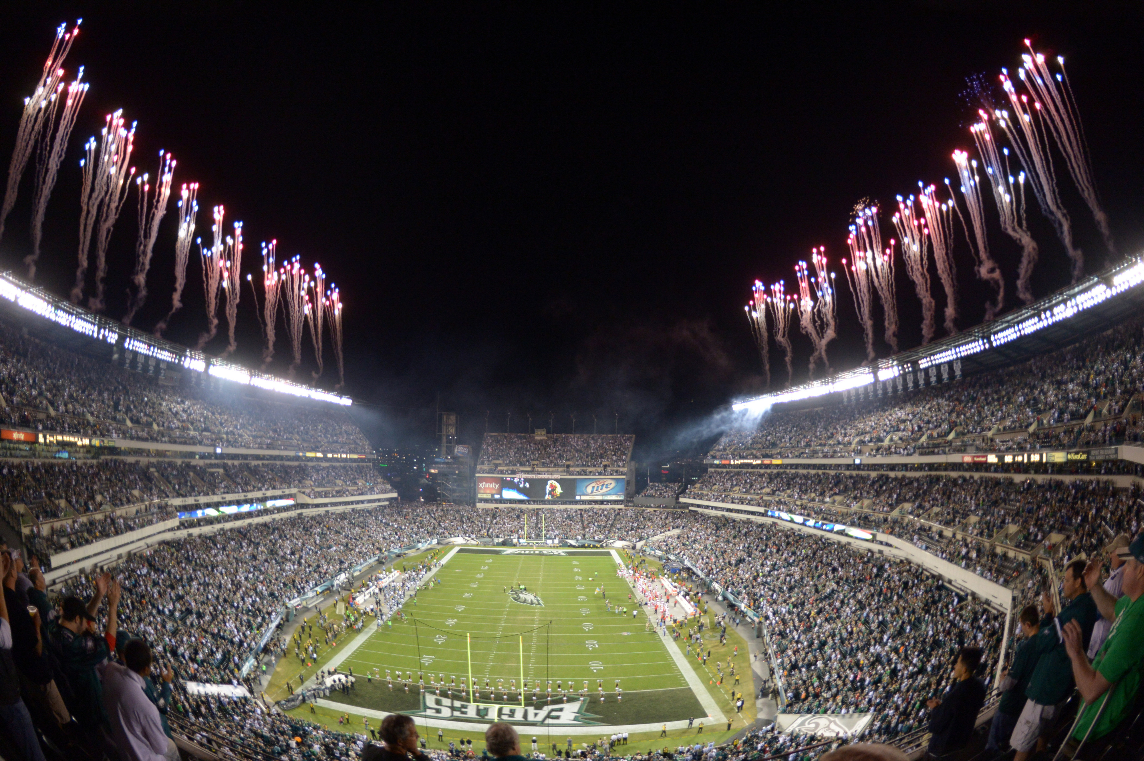 The Eagles set off all their celebratory fireworks despite losing