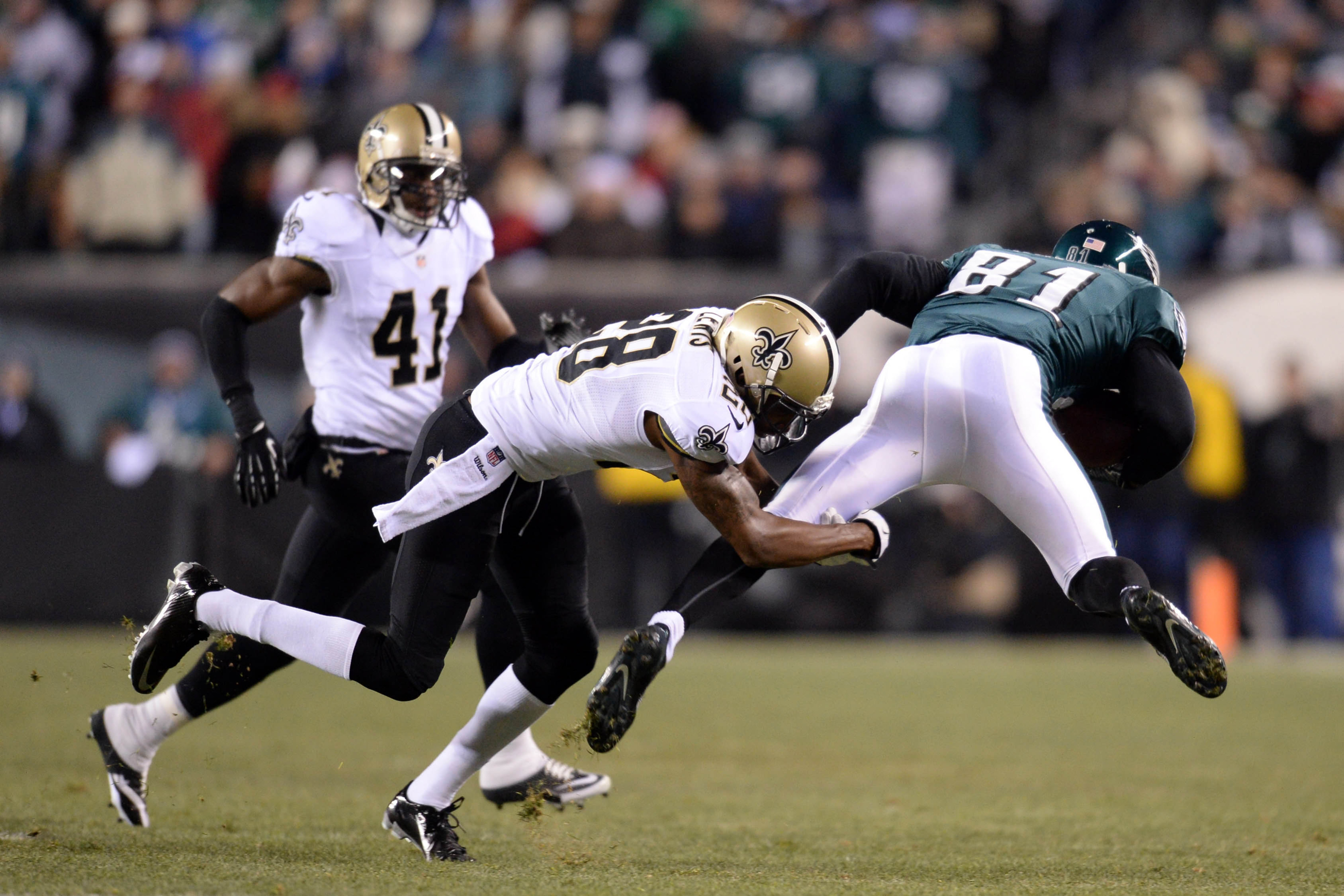 Saints vs. Eagles, 2014 NFL injury report: Keenan Lewis, Brent Celek leave game