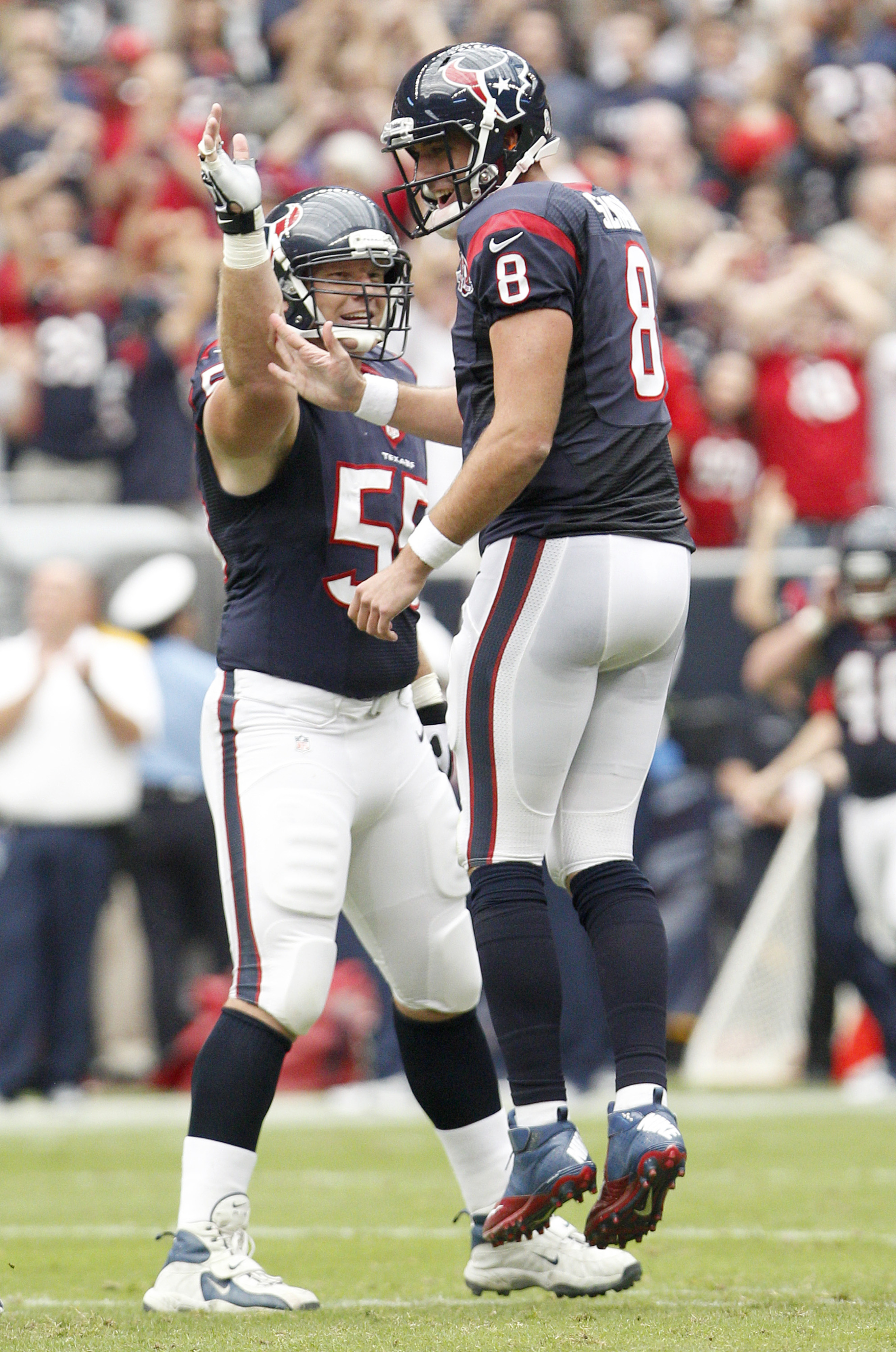 Matt Schaub is happy to quarterback the 7-1 Texans.