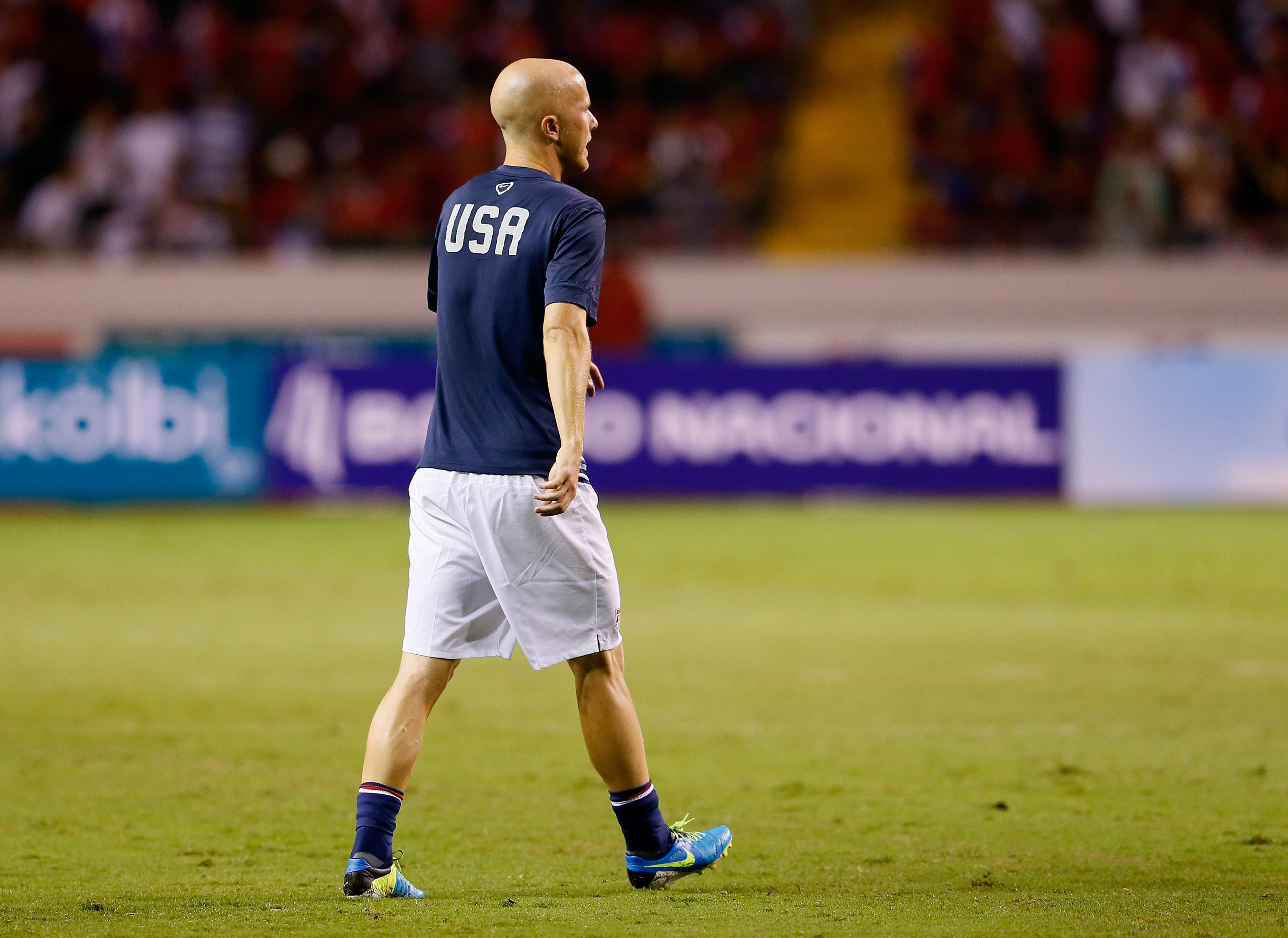 He has the weight of the American soccer watching public on his back.