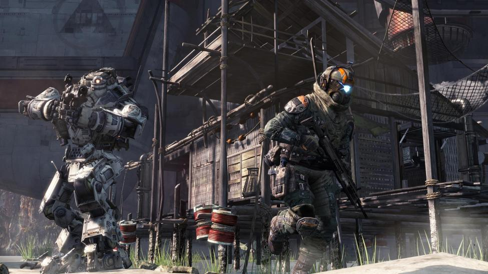 Titanfall maps can be packed with nearly 50 combatants including AI, players and Titans