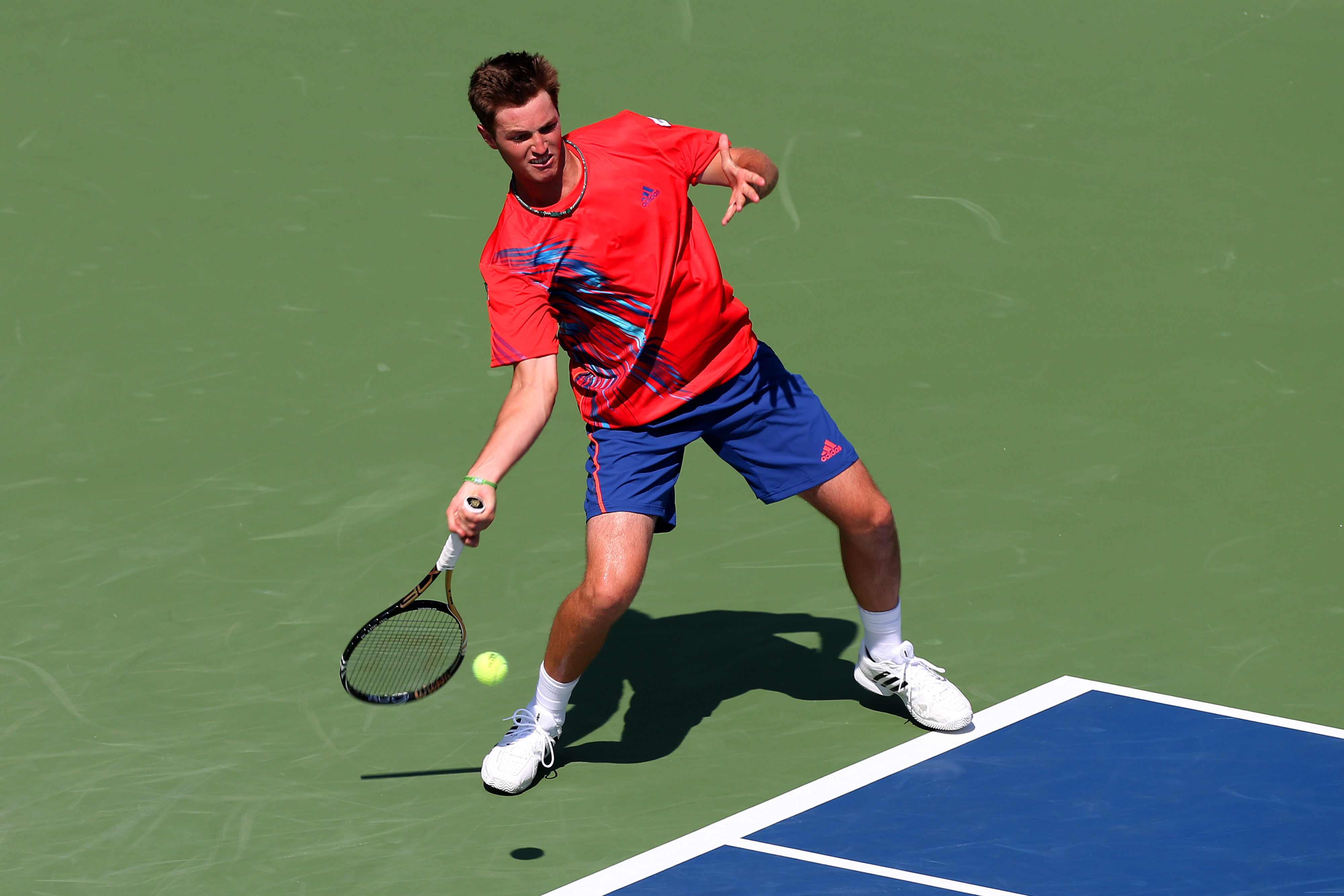 Rhyne Williams Strokes a Forehand at the U.S. Open