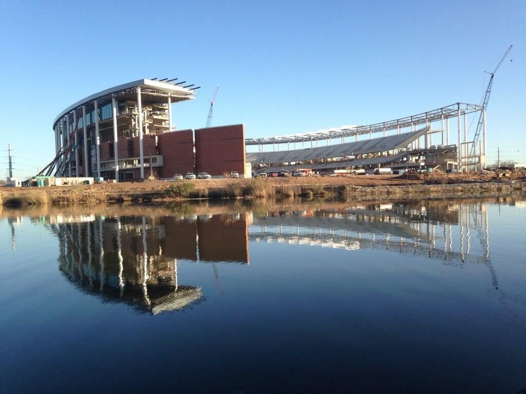 McLane Stadium is coming along quite nicely.