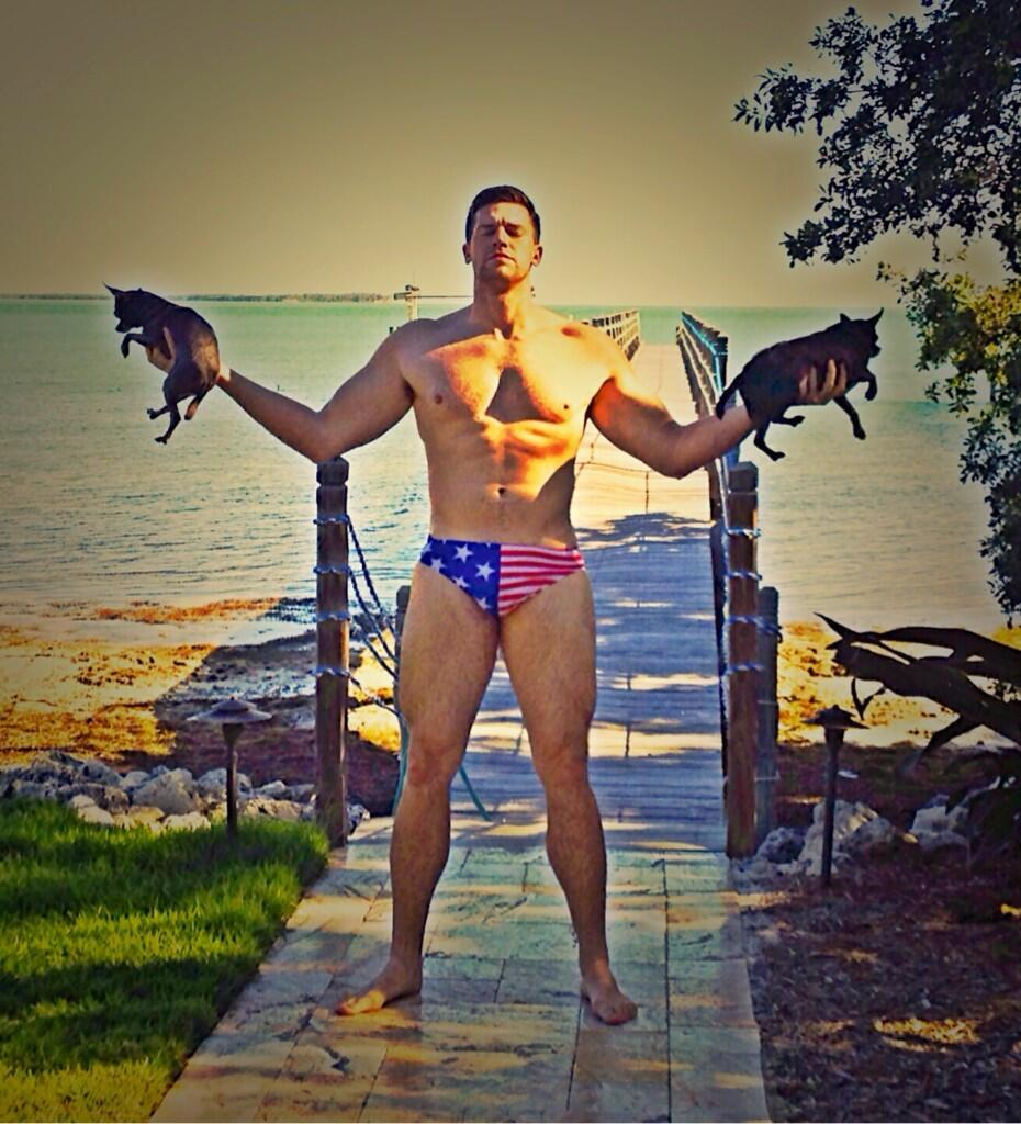Zoltan Mesko dons patriotic apparel -- with two digs.