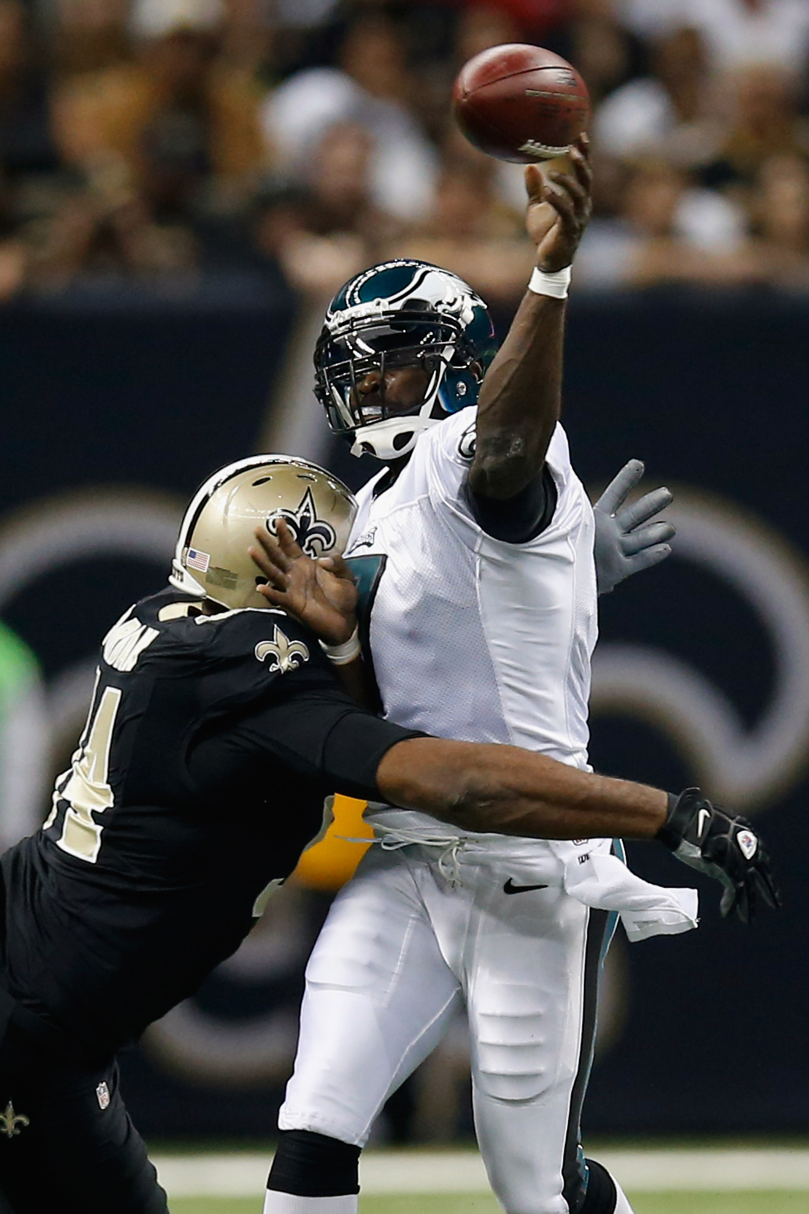 This is an example of what Vick has been feeling all night.