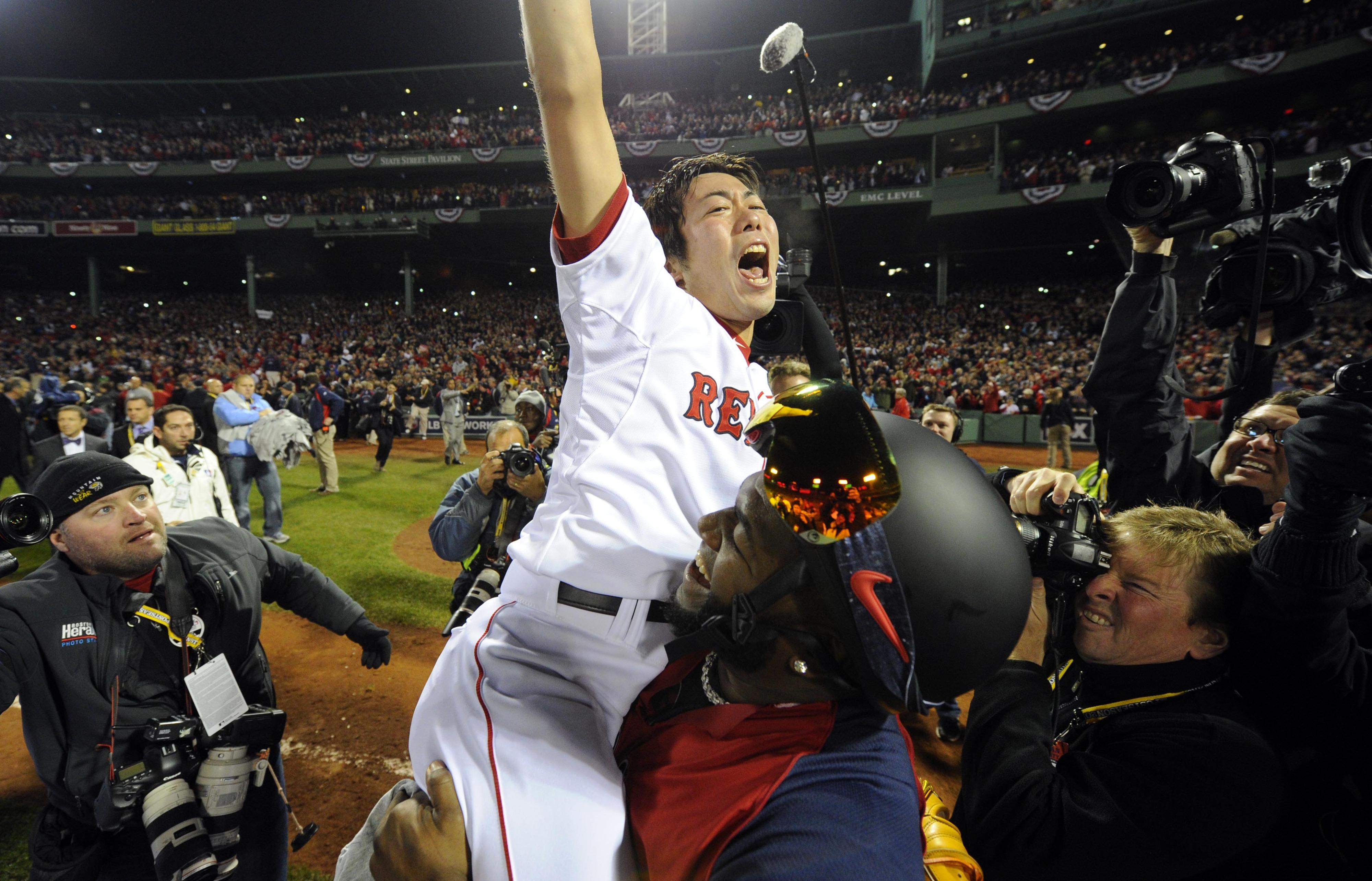 The always-enthusiastic Koji Uehara had a lot to celebrate in 2013.