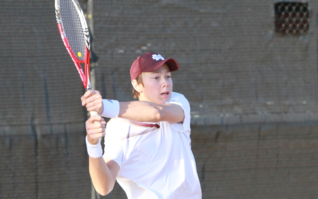 Florian Lakat Strikes a Backhand for the Bulldogs