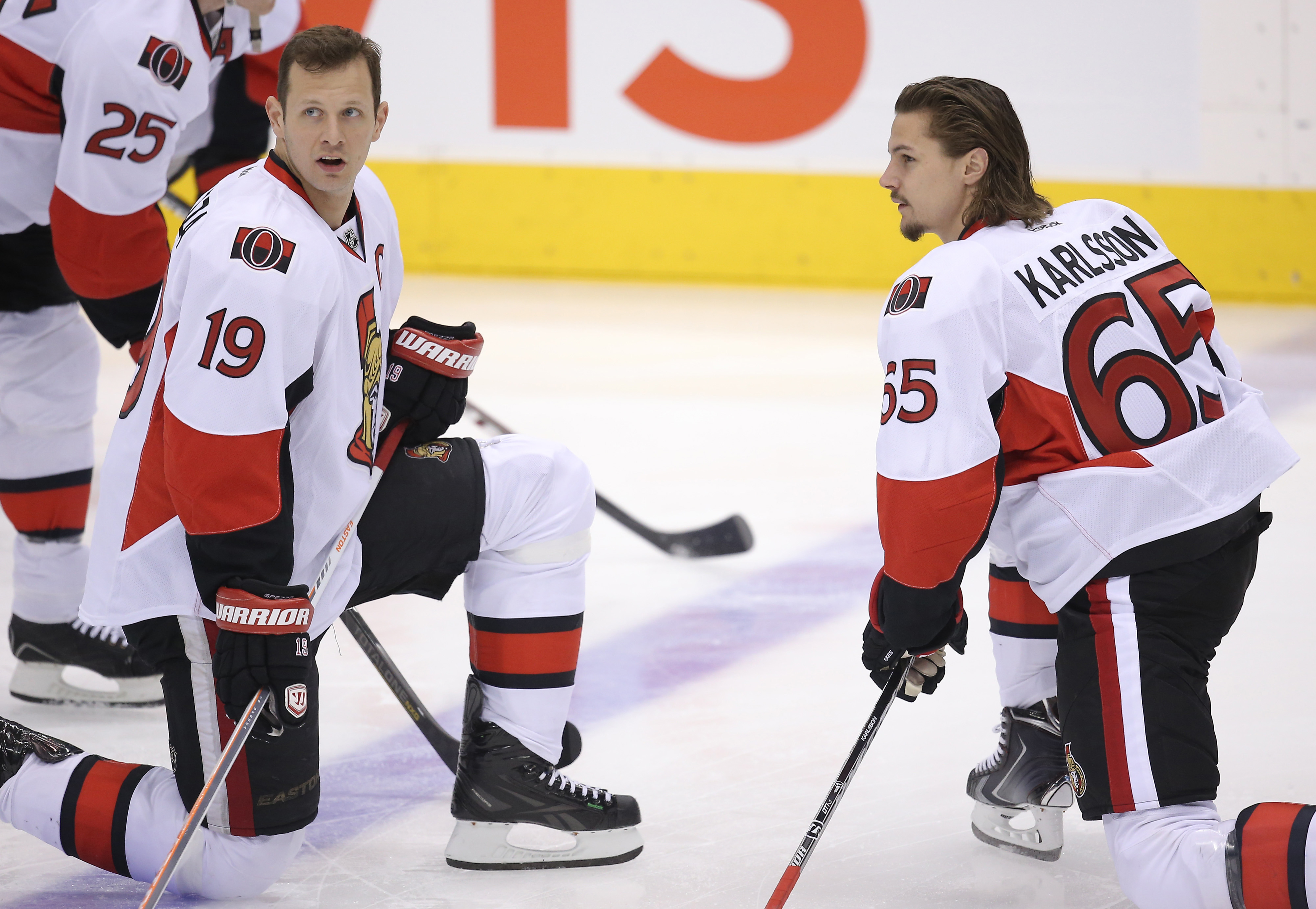 """Karlsson was probably like, """"Hey, if you won't shoot, I will."""" And Spezza was like, """"Okay, get open."""""""