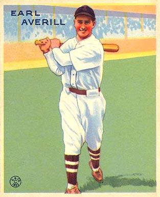 Earl Averill Goudey baseball card, 1933