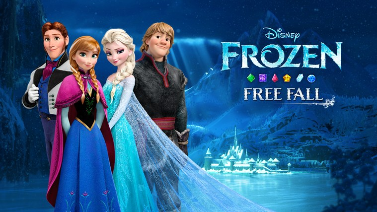 Frozen Free Fall's free update features Olaf the snowman
