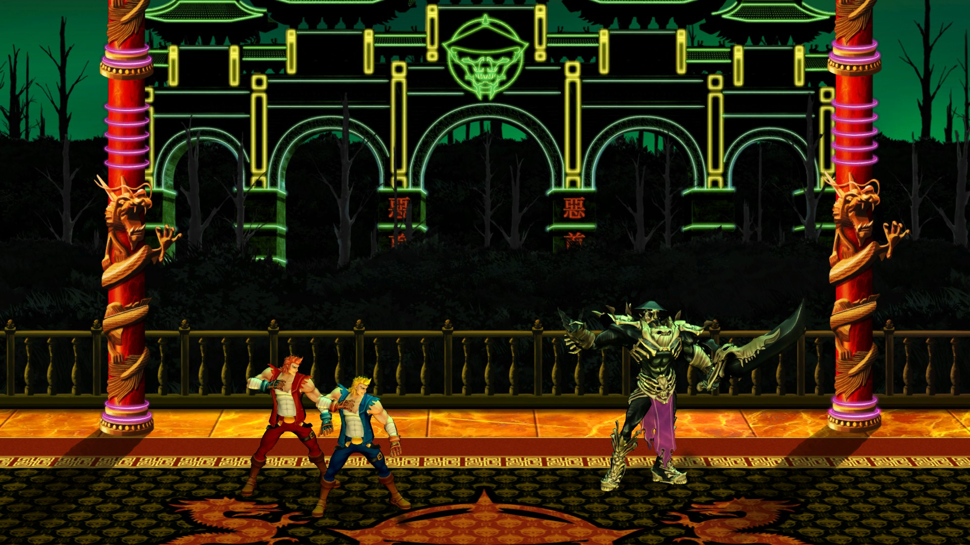 Double Dragon Neon launching today on Steam with online co-op