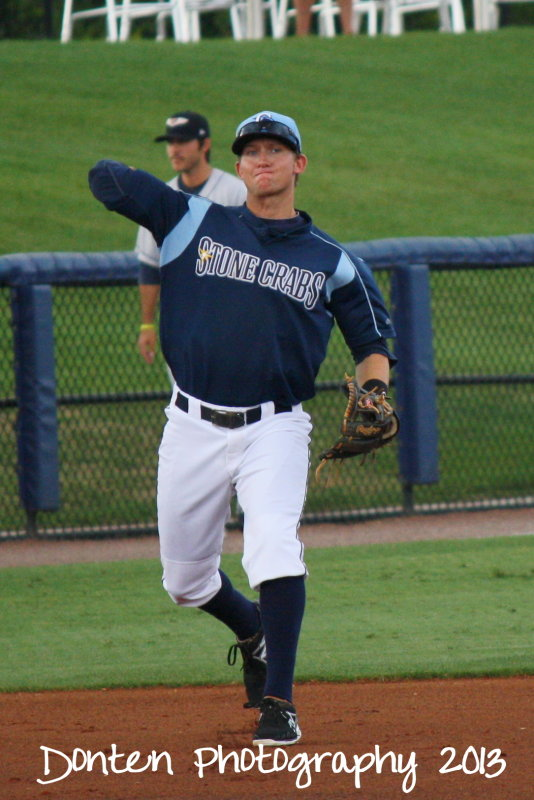 Jake Hager for the Charlotte Stone Crabs. Credit: Jim Donten