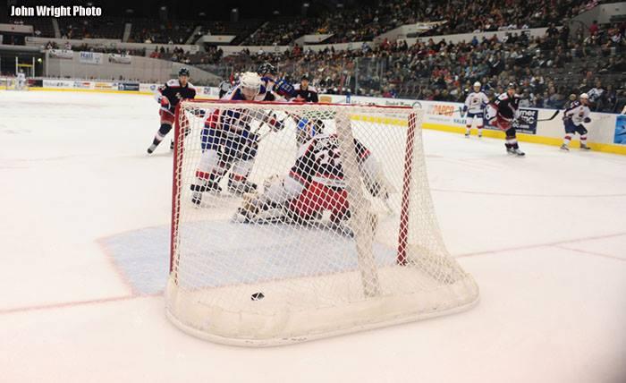 Chris Wagner Deflects Game Winning Goal Against Hartford--Feb 7, 2014 Norfolk Scope