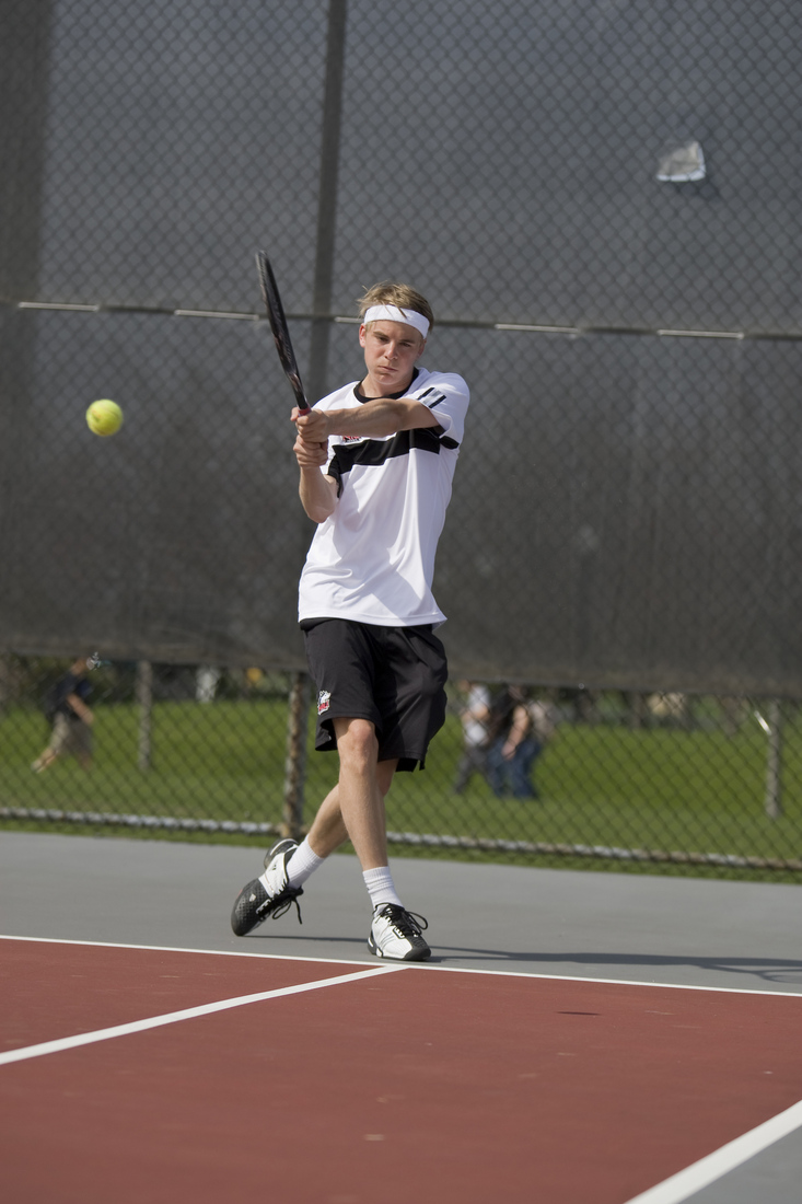 Axel Lagerlof had a fantastic weekend for Miami, defeating No. 80 Svan Lalic on Sunday.