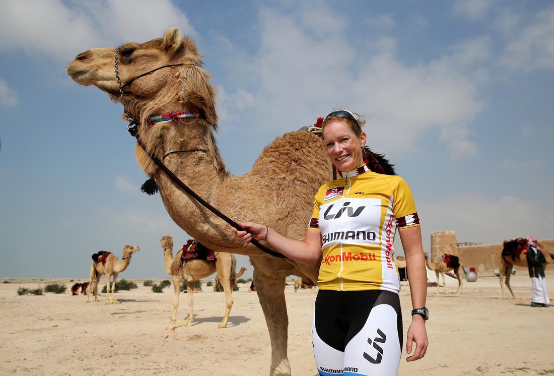 Kirsten wild before Stage 2, Tour of Qatar 2014