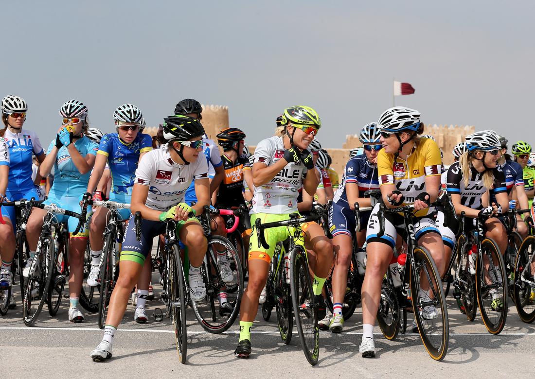 Conversation before Stage 2, 2014 Tour of Qatar