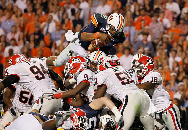 No, this photo isn't from the 1999 Auburn-Georgia game, but it was another beautiful moment in the rivalry.
