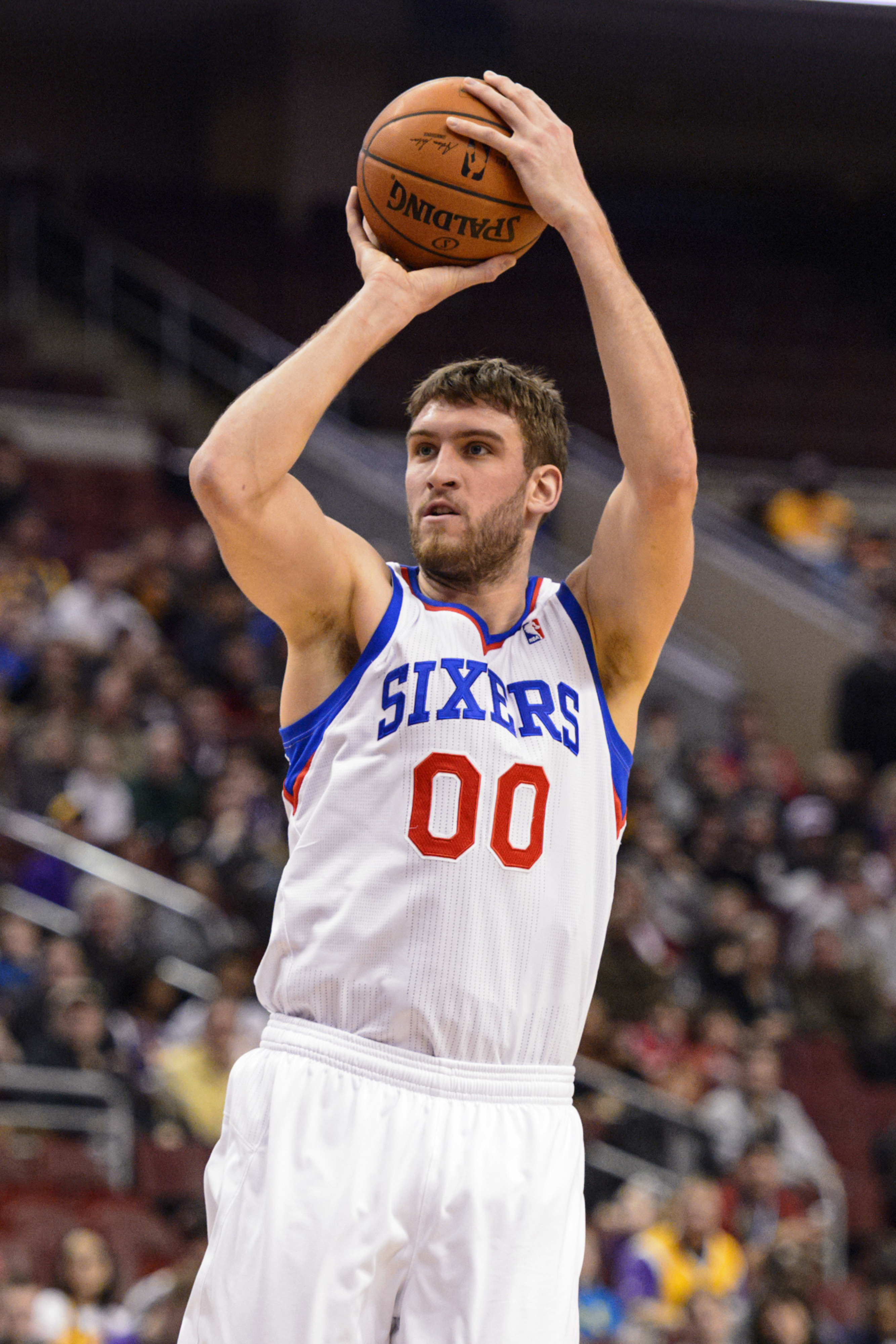 Spencer Hawes is headed to Cleveland, one of the many trades today.