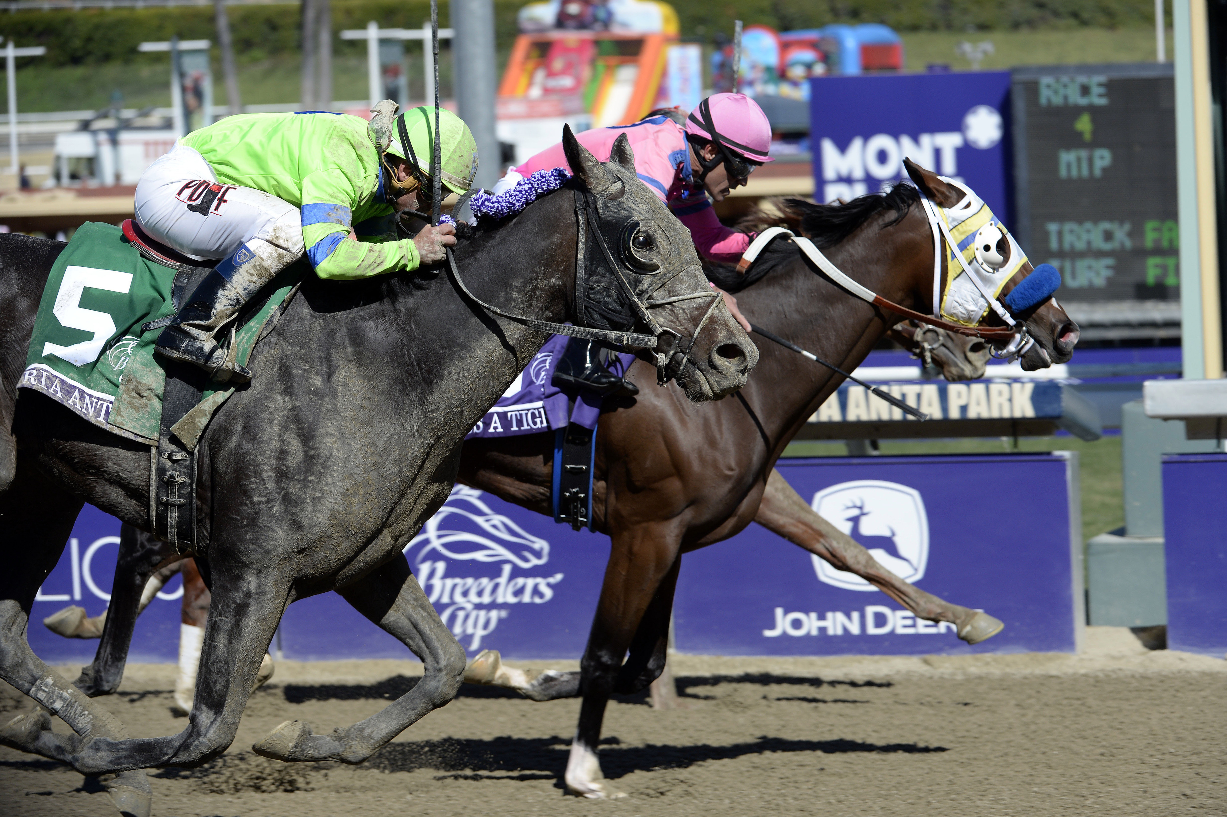 Breeders' Cup Juvenile Fillies winner Ria Antonia (left) makes her 2014 debut in Saturday's Rachel Alexandra Stakes at the Fair Grounds.