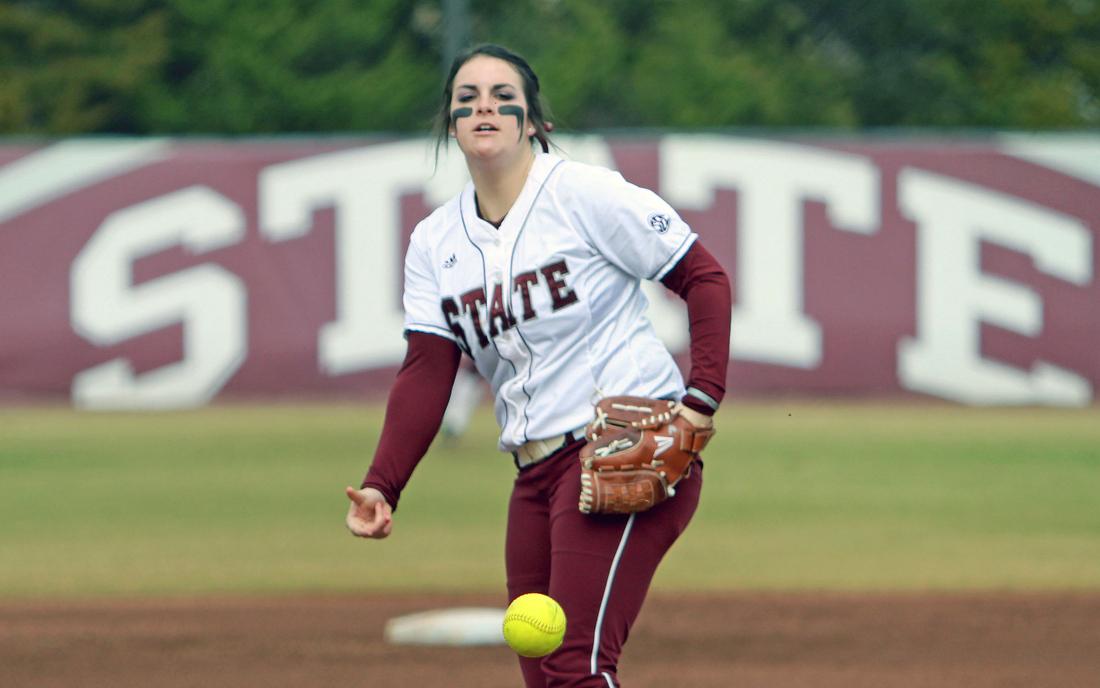 Mississippi State senior Alison Owen struckout ten against Iowa Sunday