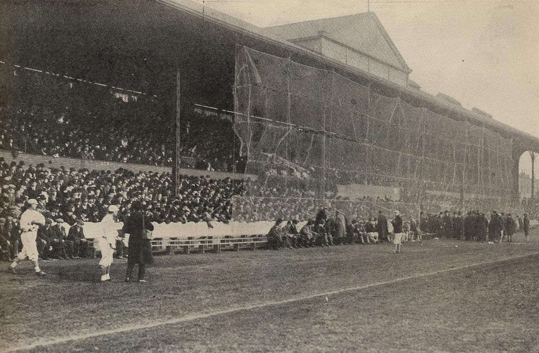 The White Sox and Giants at Stamford Bridge, Chelsea's stadium.