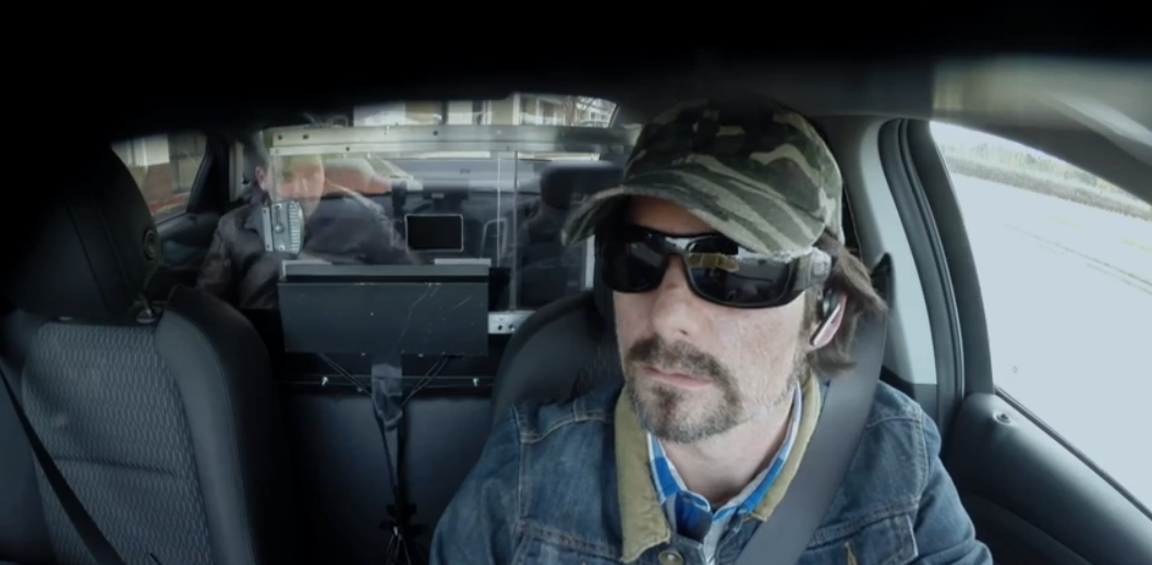 Disguised Jeff Gordon takes reporter on wild ride to evade cops
