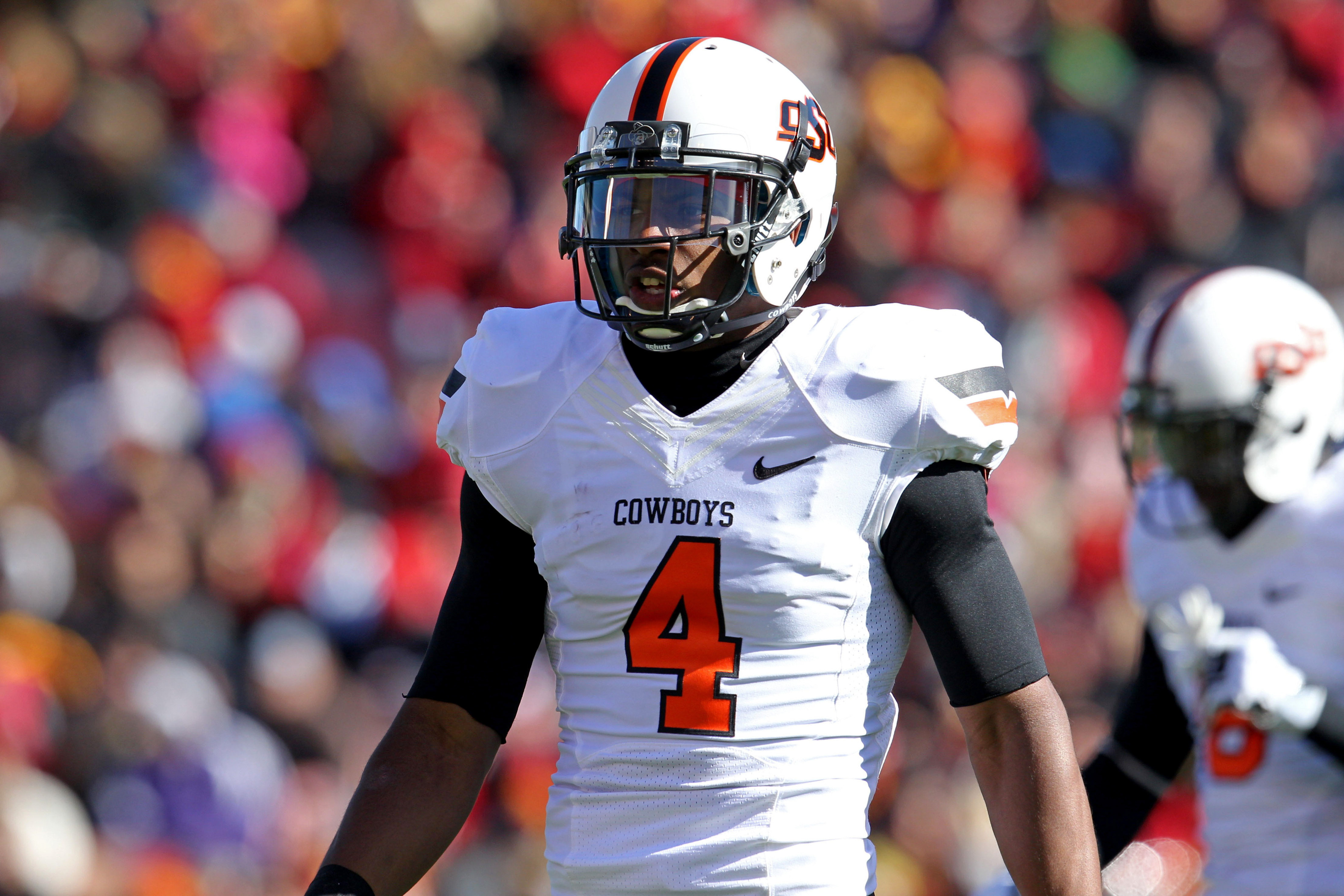 Oklahoma State corner Justin Gilbert impressed during the NFL Scouting Combine
