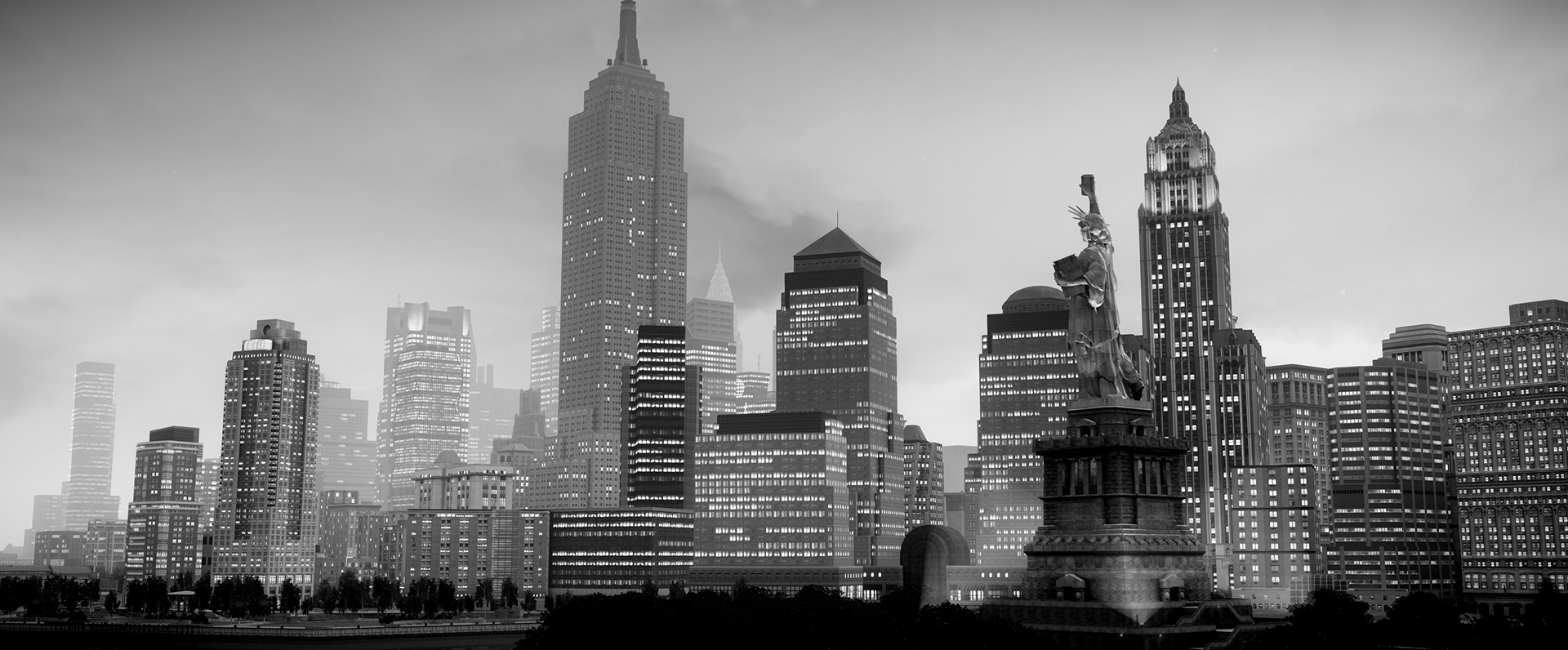 See Grand Theft Auto 4's Liberty City in brilliant black and white